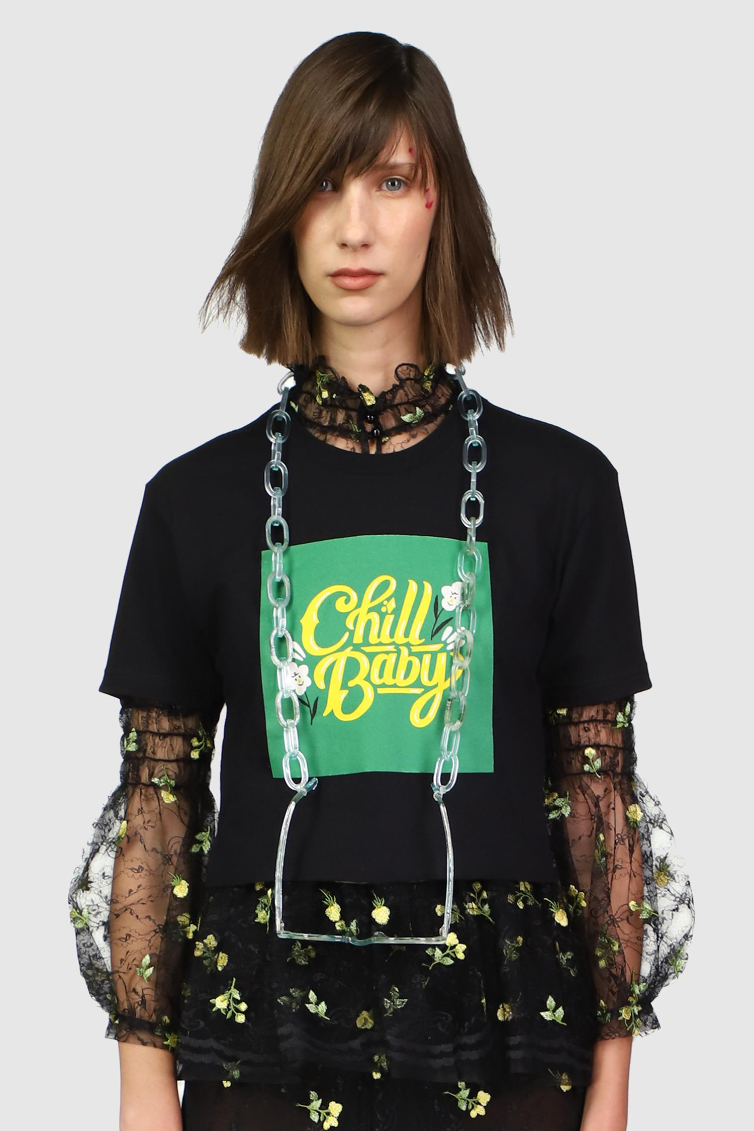Chill Baby Cropped T Shirt