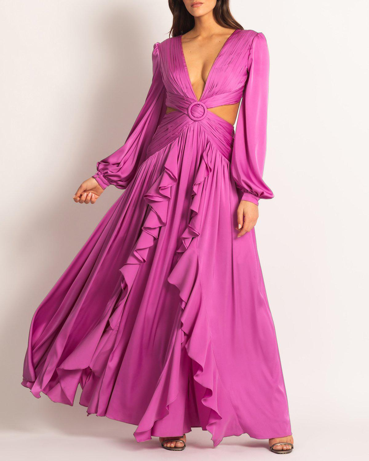 Cutout Plunge Gown