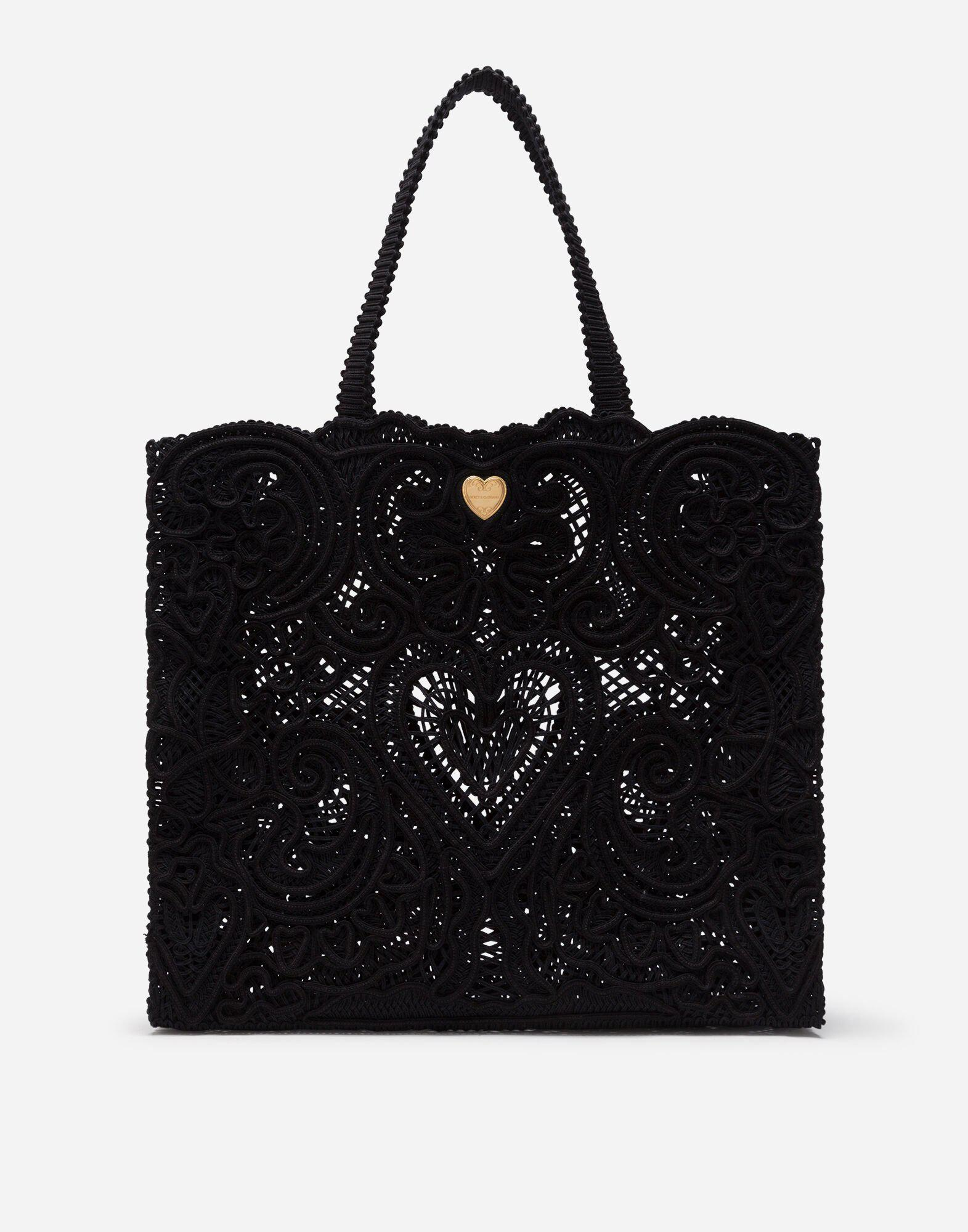 Large cordonetto lace Beatrice bag