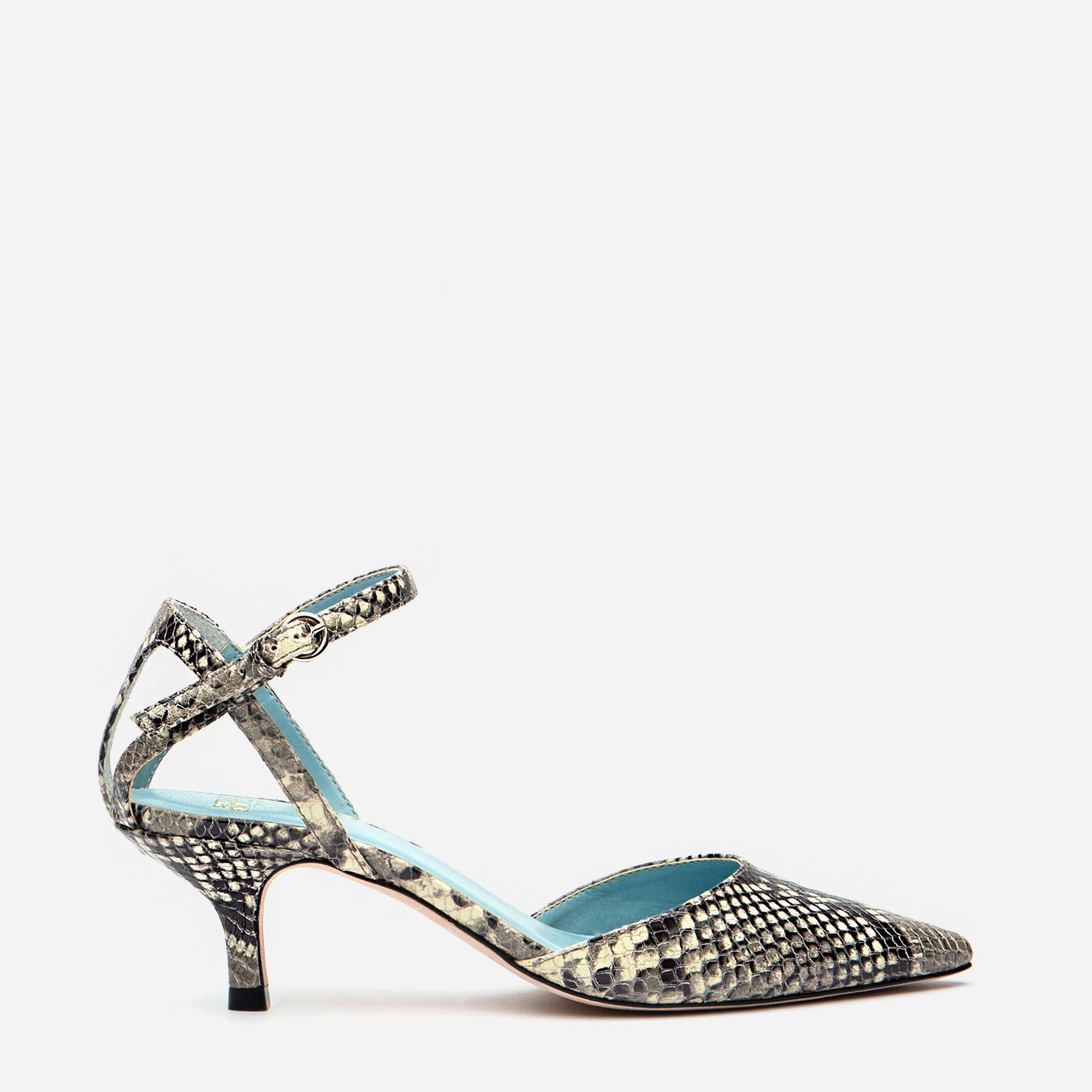 Alice Snake Pointed Toe Heel Natural