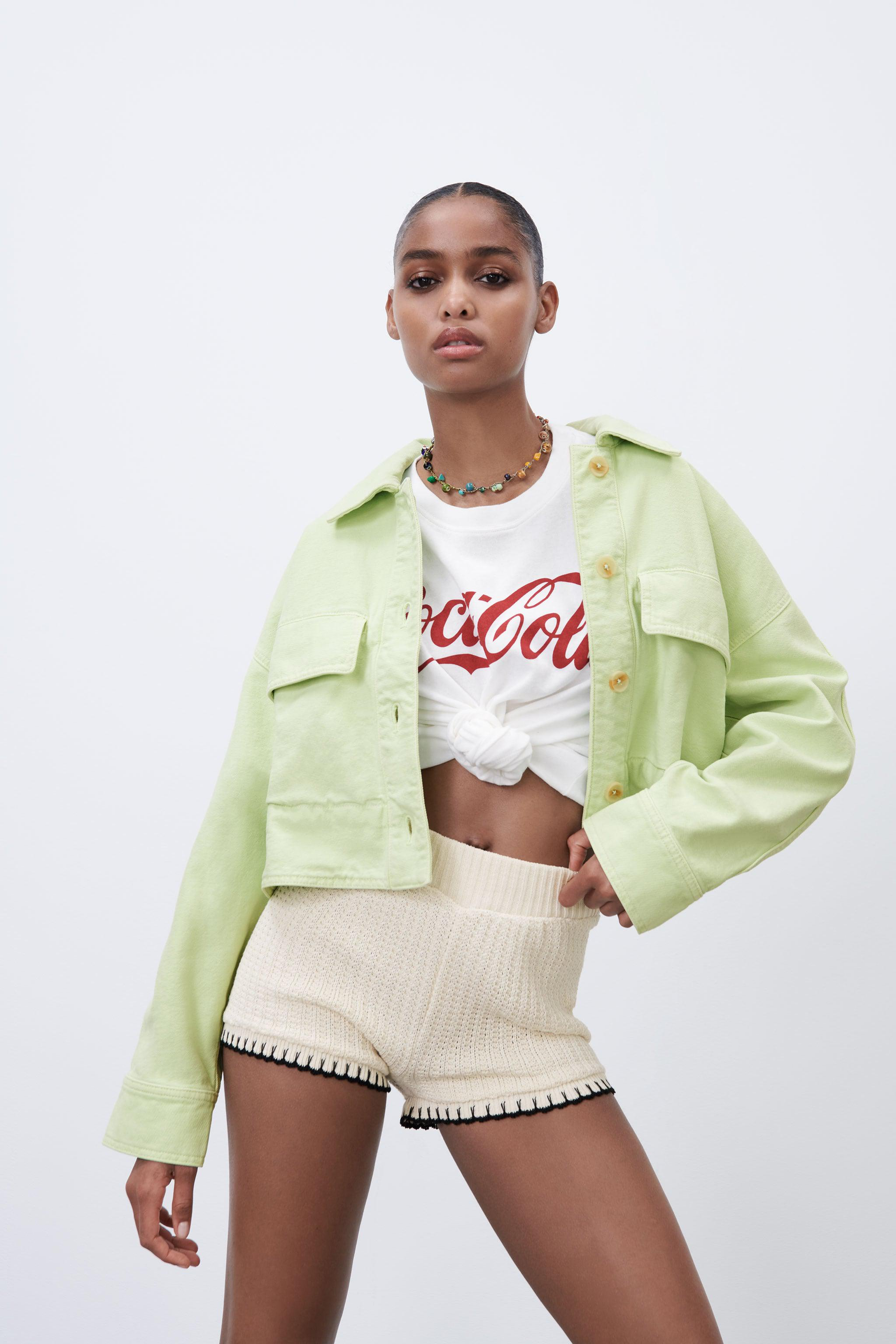 SOLID COLOR CROPPED OVERSHIRT 1