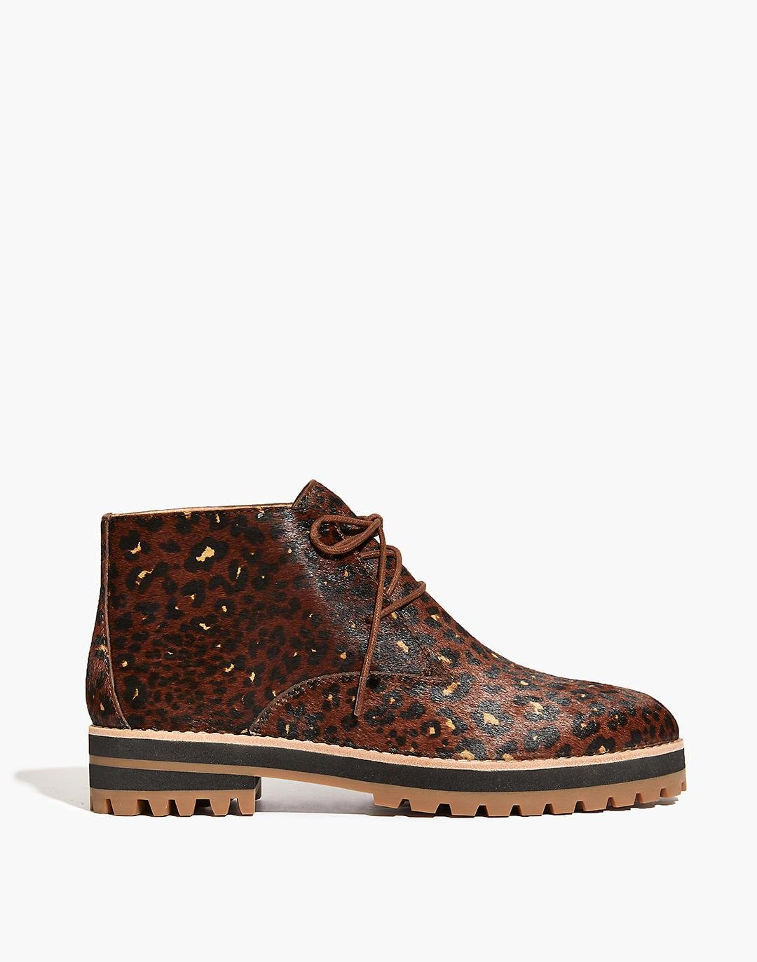 The Wren Boot in Painted Leopard Calf Hair 1