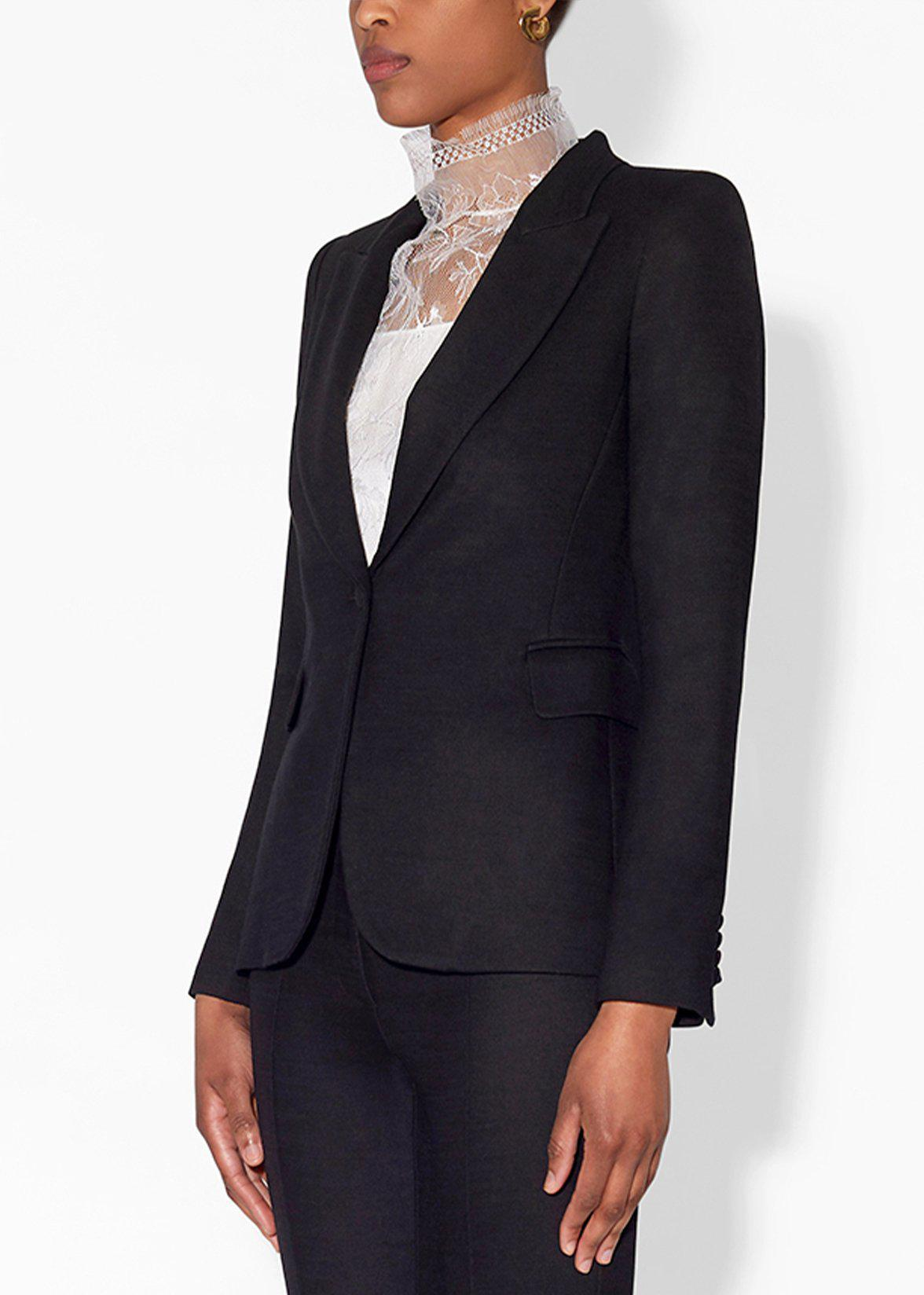 SINGLE BREASTED BLAZER IN DOUBLE FACE WOOL