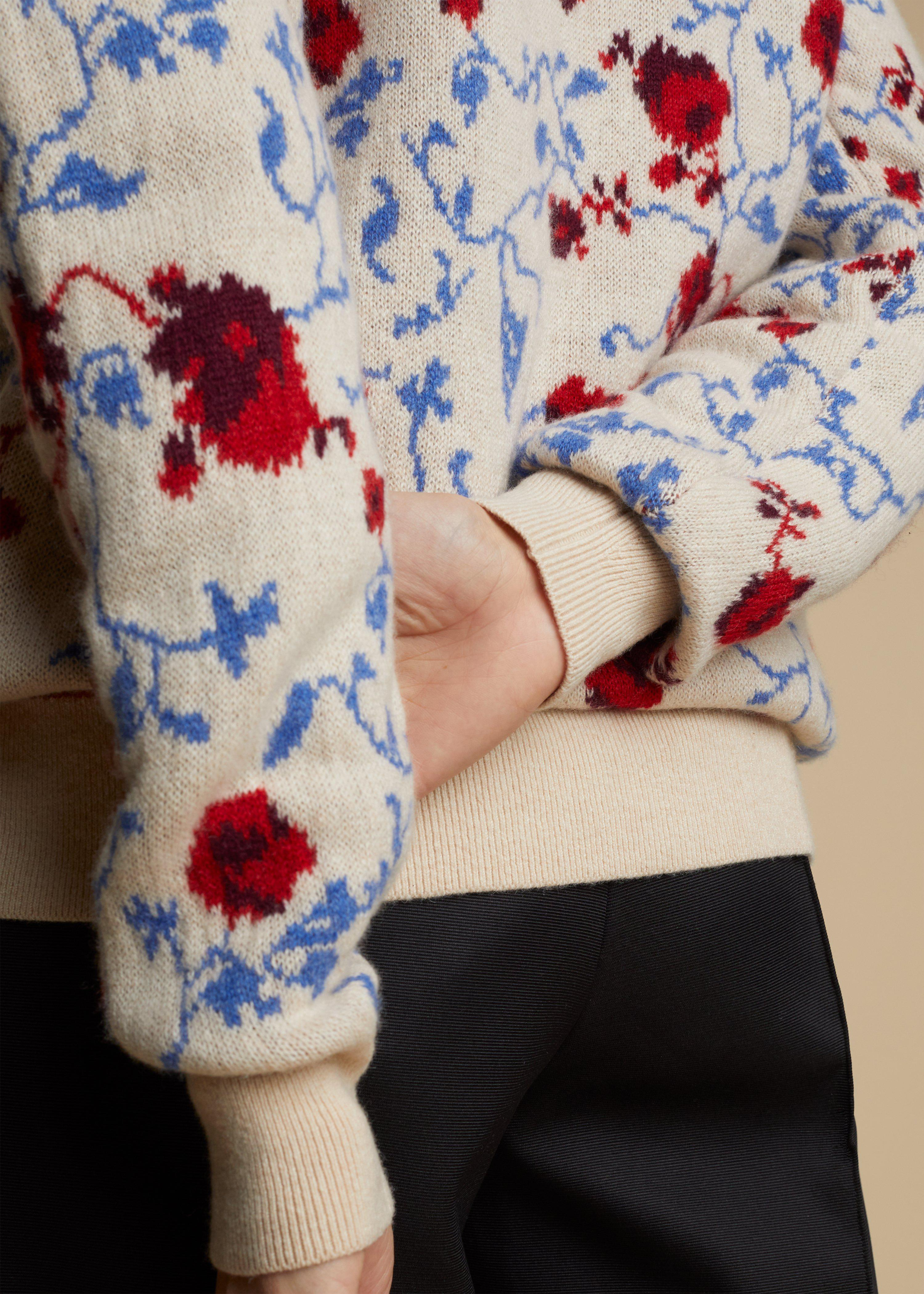 The Amelia Cardigan in Floral Jacquard 3