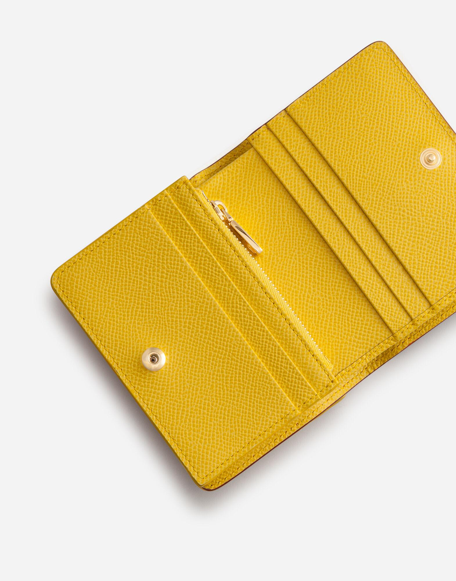 Small continental wallet in carretto-print dauphine calfskin 3