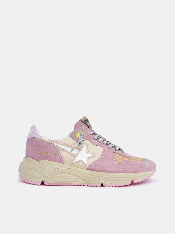 Pastel pink Running Sole sneakers with white star