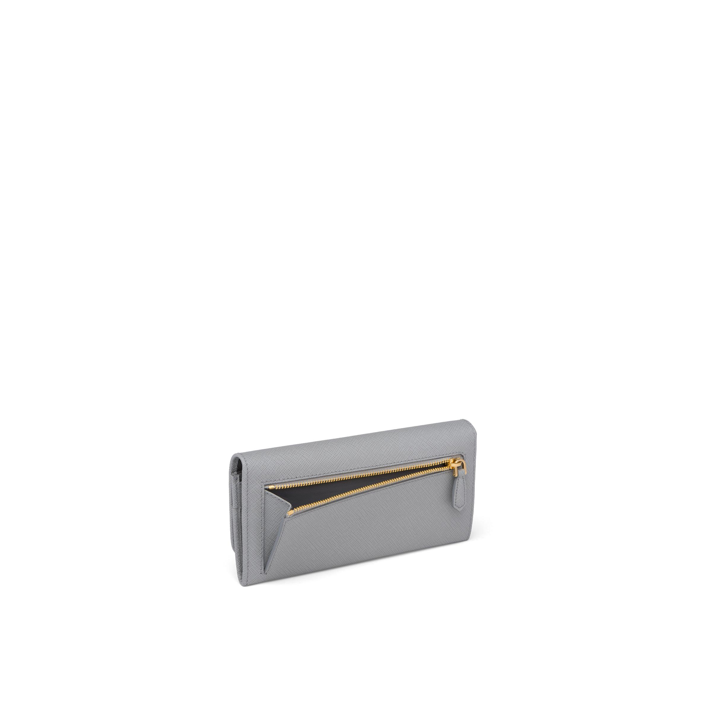 Large Saffiano Leather Wallet Women Cloudy Gray/marble Gray 5