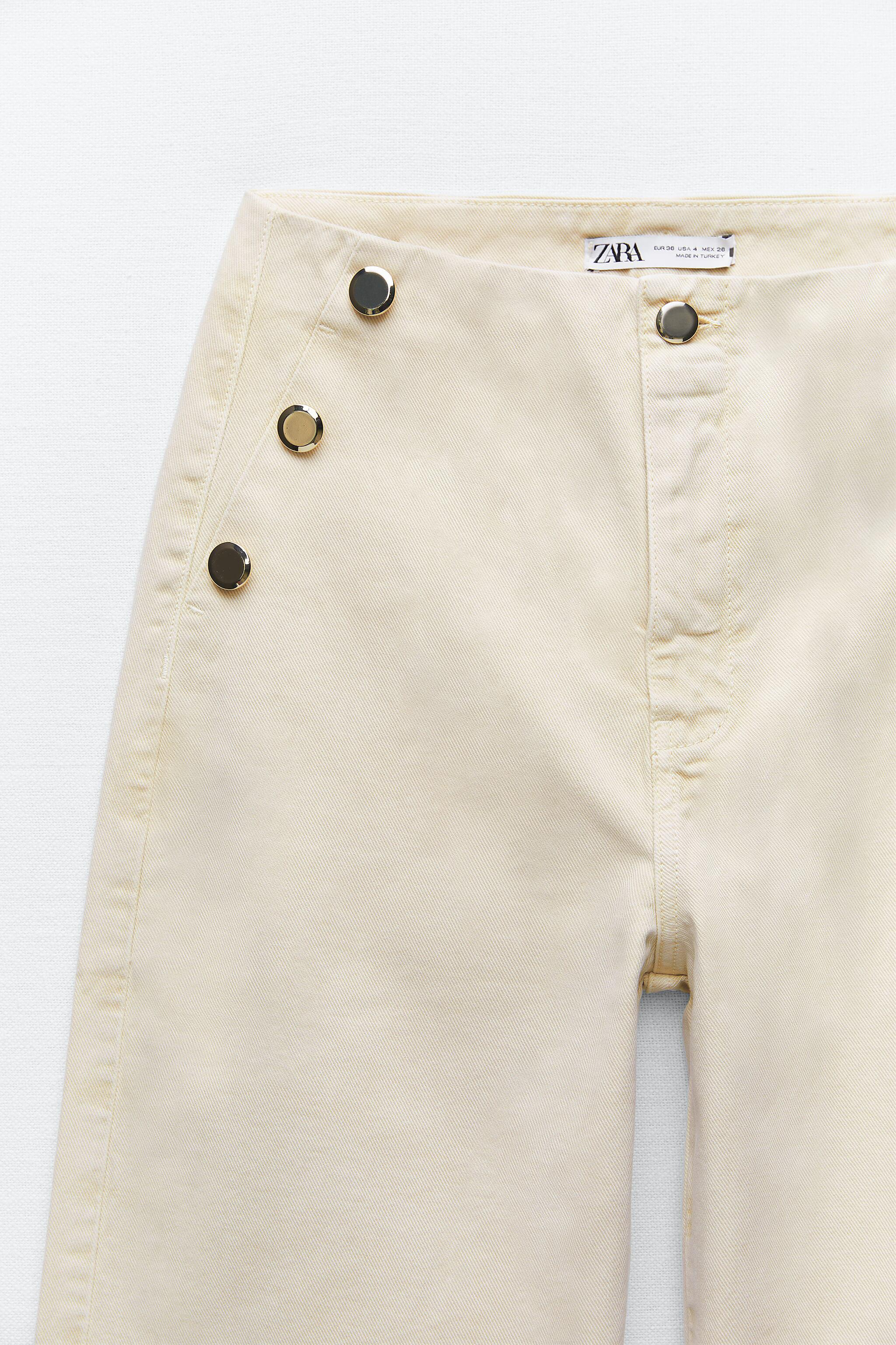 Z1975 CROPPED WIDE LEG BUTTONED JEANS 5