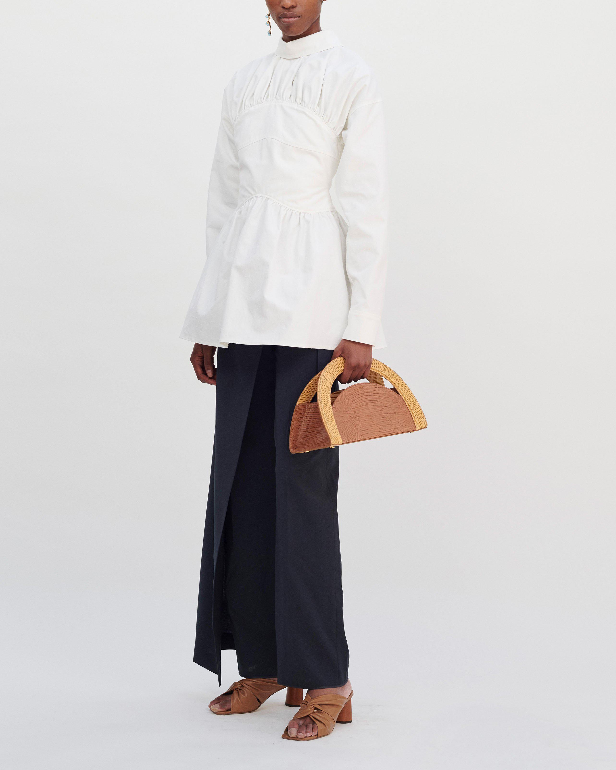 Vera Blouse Japanese Cotton Blend Off-White - SPECIAL PRICE