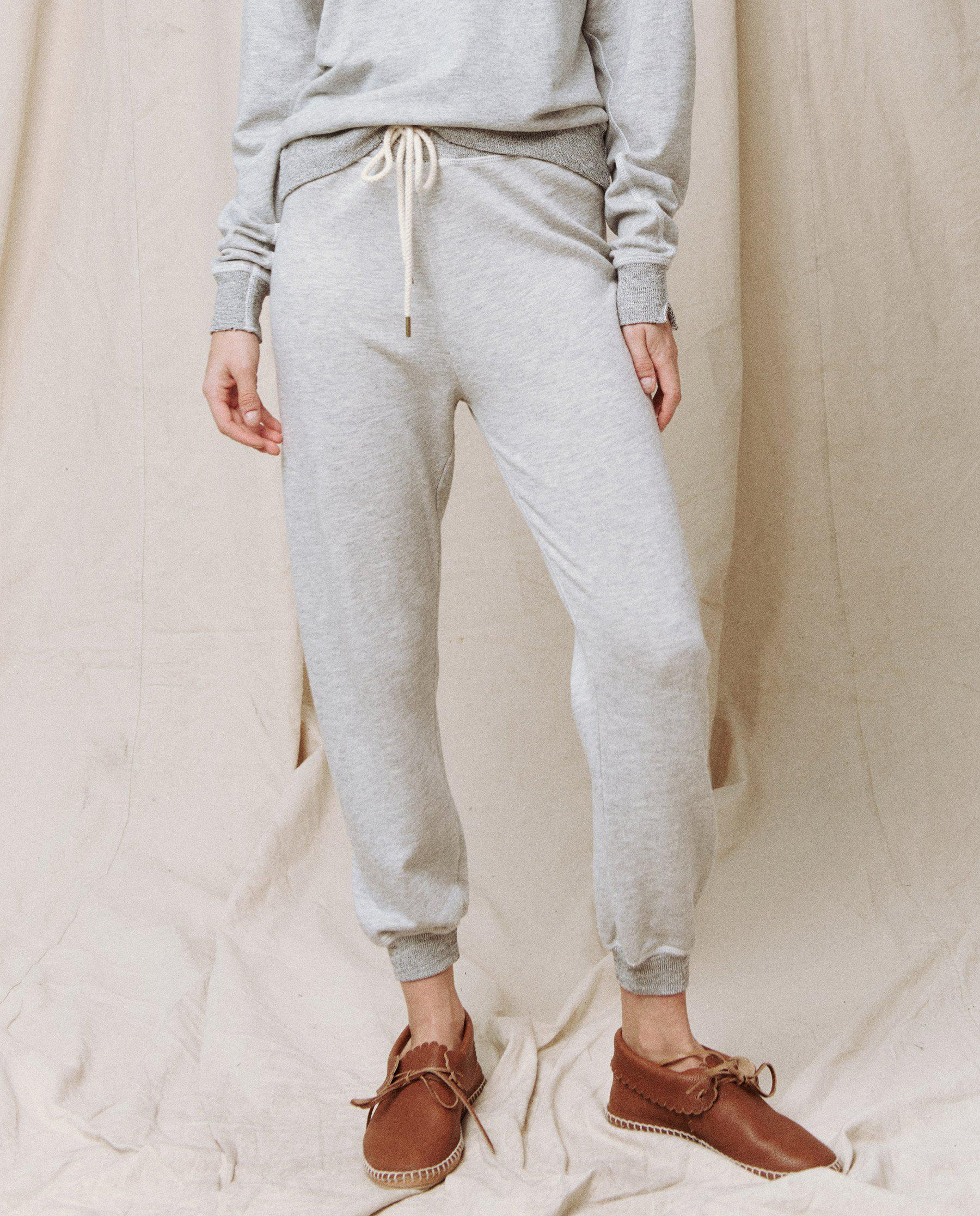 The Cropped Sweatpant. Solid -- Light Heather Grey 2