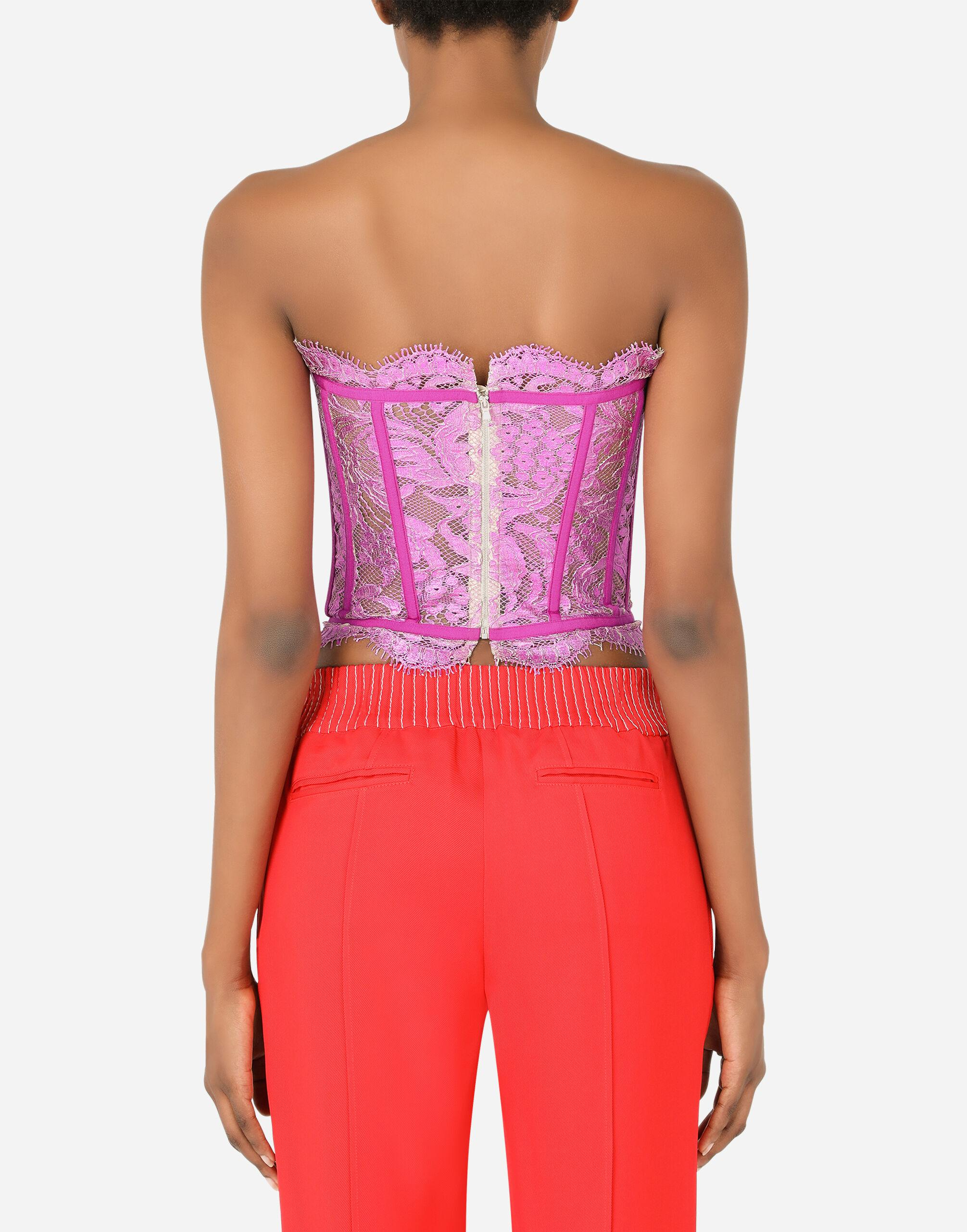 Laminated lace bustier 1