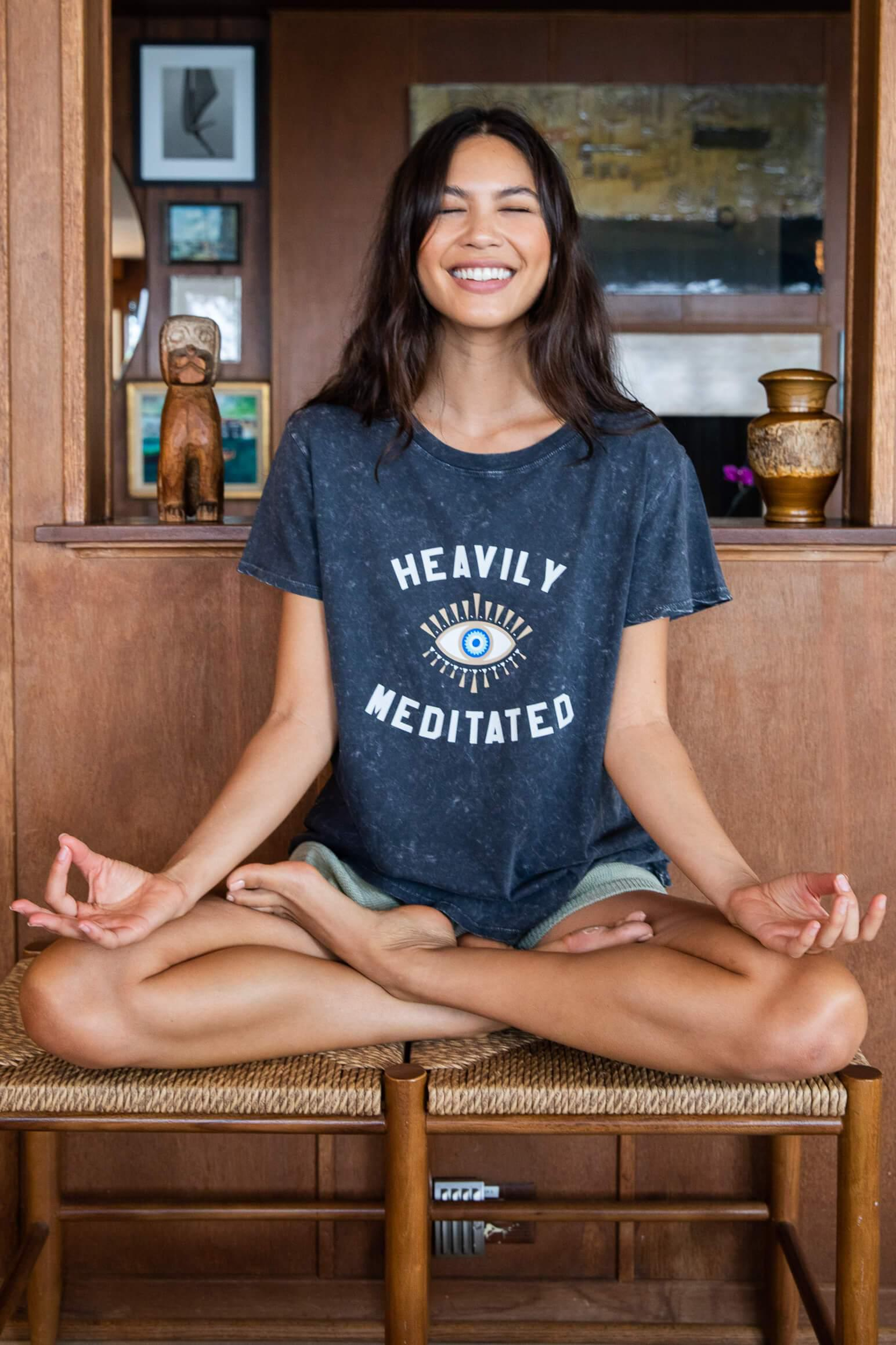 HEAVILY MEDITATED NEW MINERAL WASH LOOSE TEE