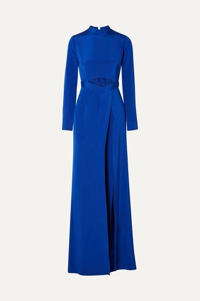 CREPE CUT-OUT JUMPSUIT WITH OVERSKIRT 3