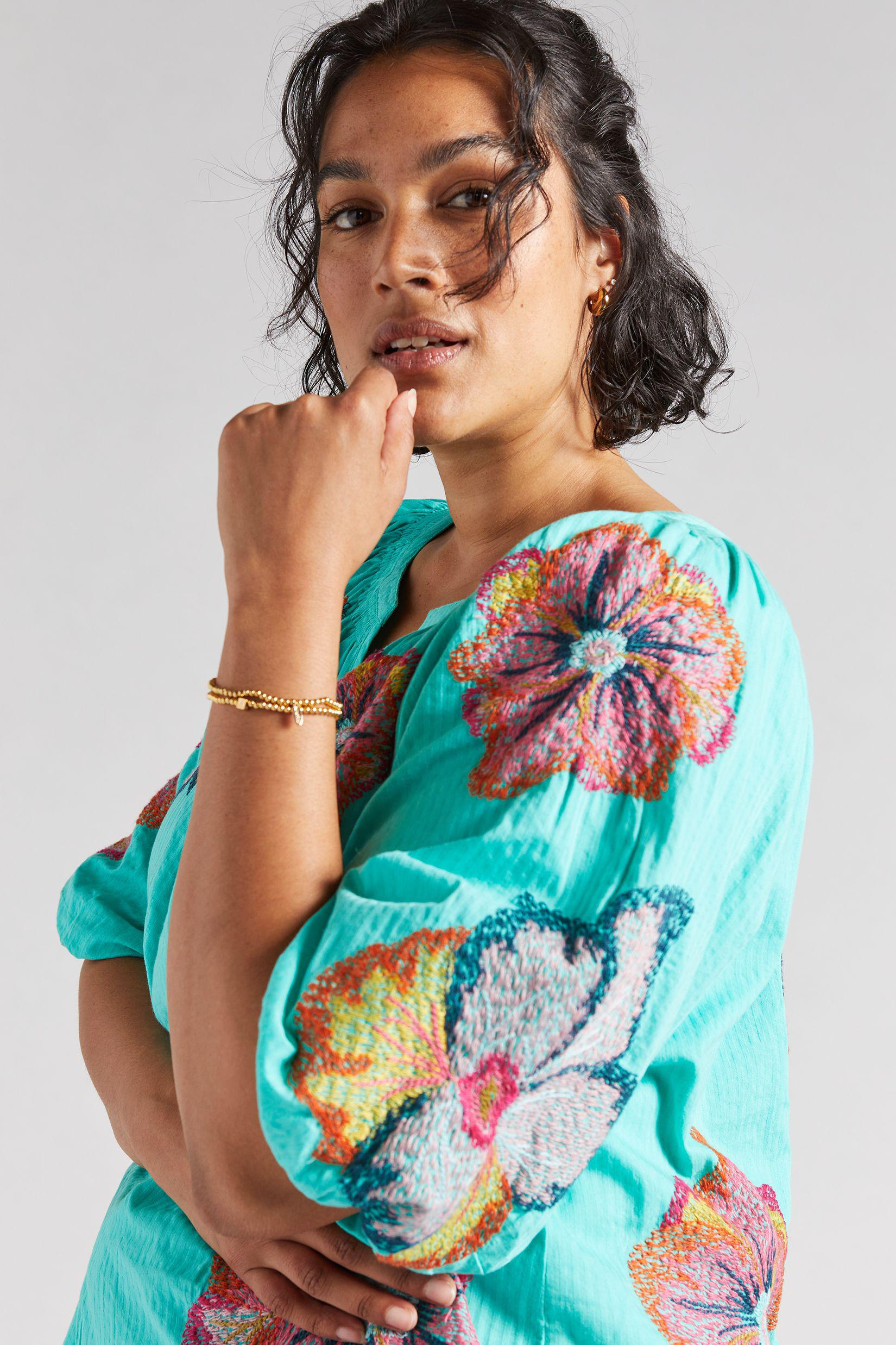 Maeve Embroidered Peasant Blouse 2