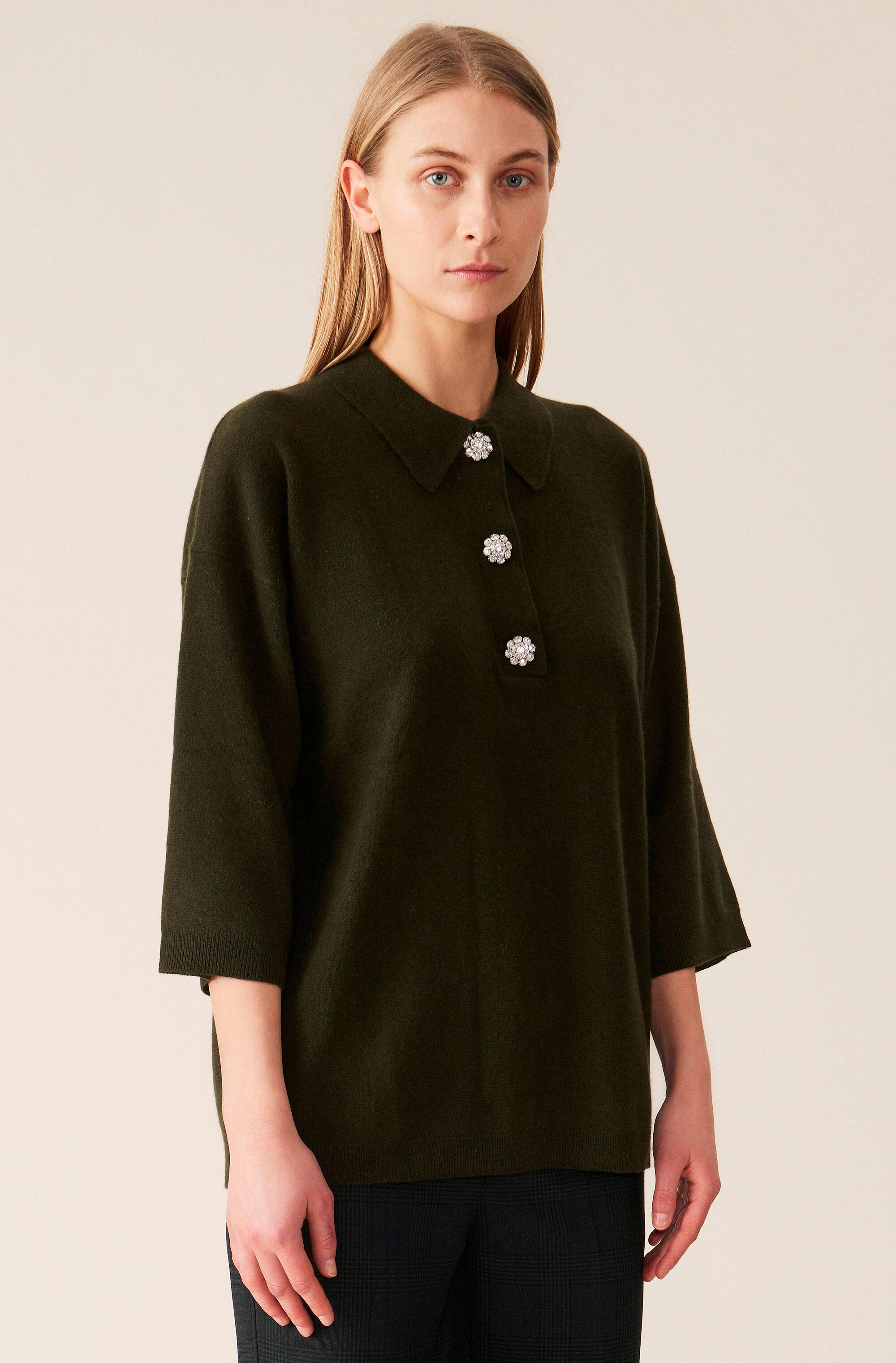 Cashmere Knit Oversized T-shirt - Solid