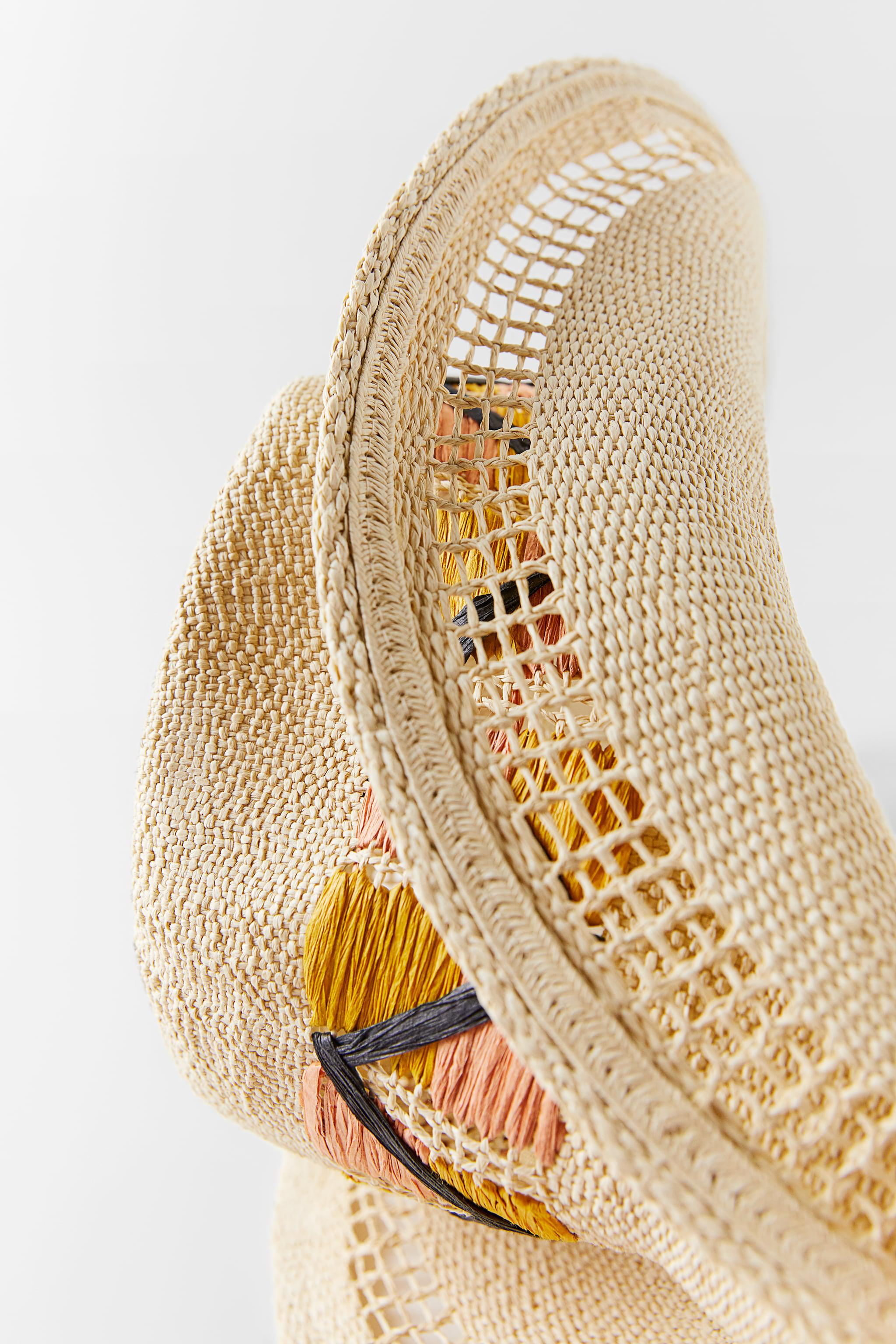 EMBROIDERED WOVEN HAT 2