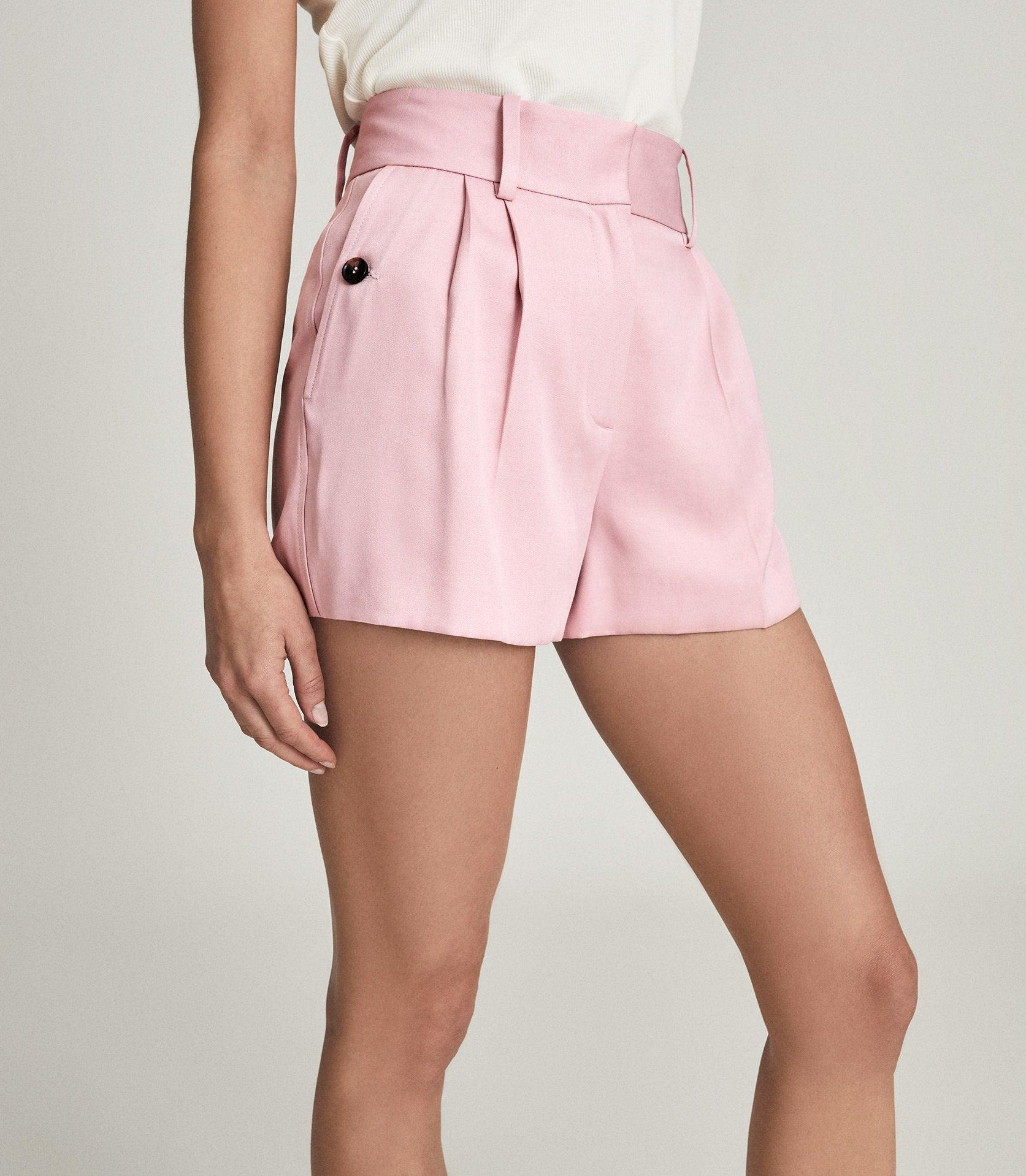 EMBER - TAILORED PLEAT FRONT SHORTS 2