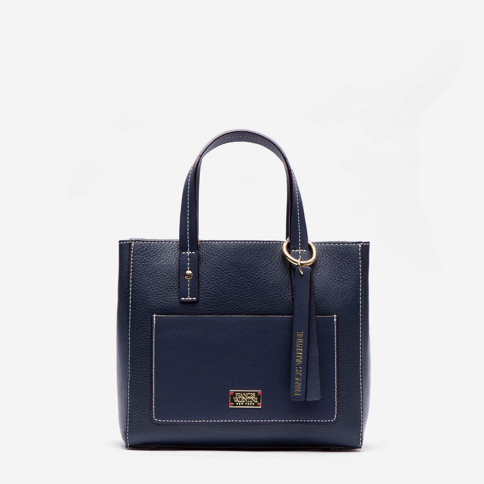 Small Chloe Tumbled Leather Navy 0