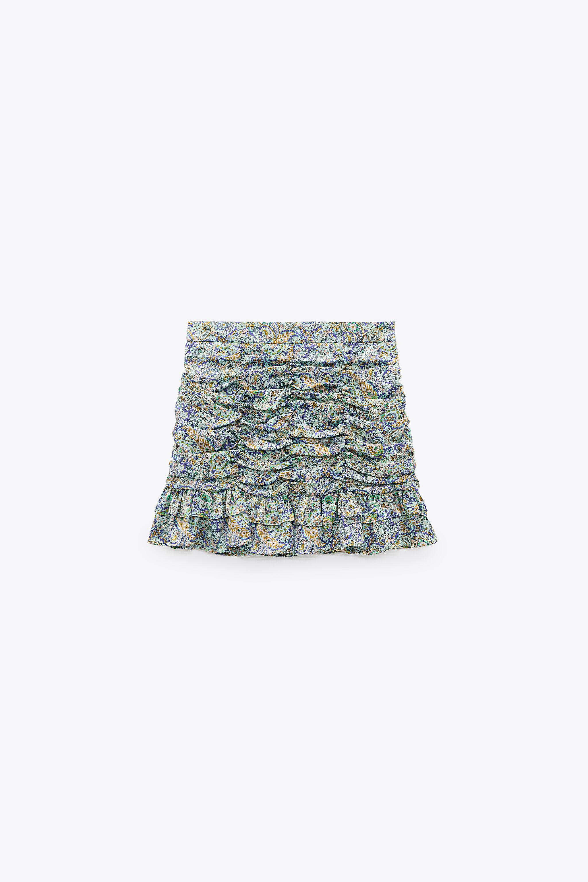 RUCHED PRINTED SKIRT 3