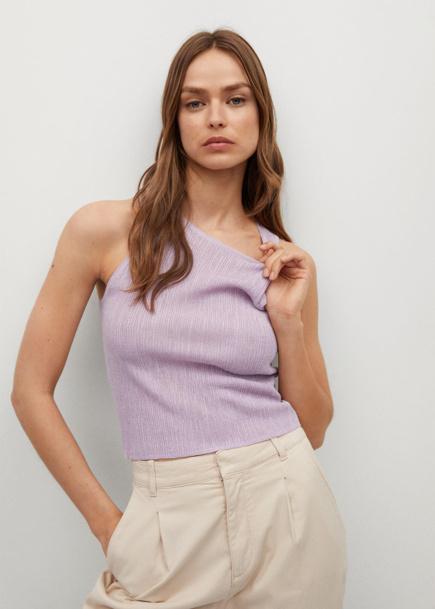 Embossed knit top