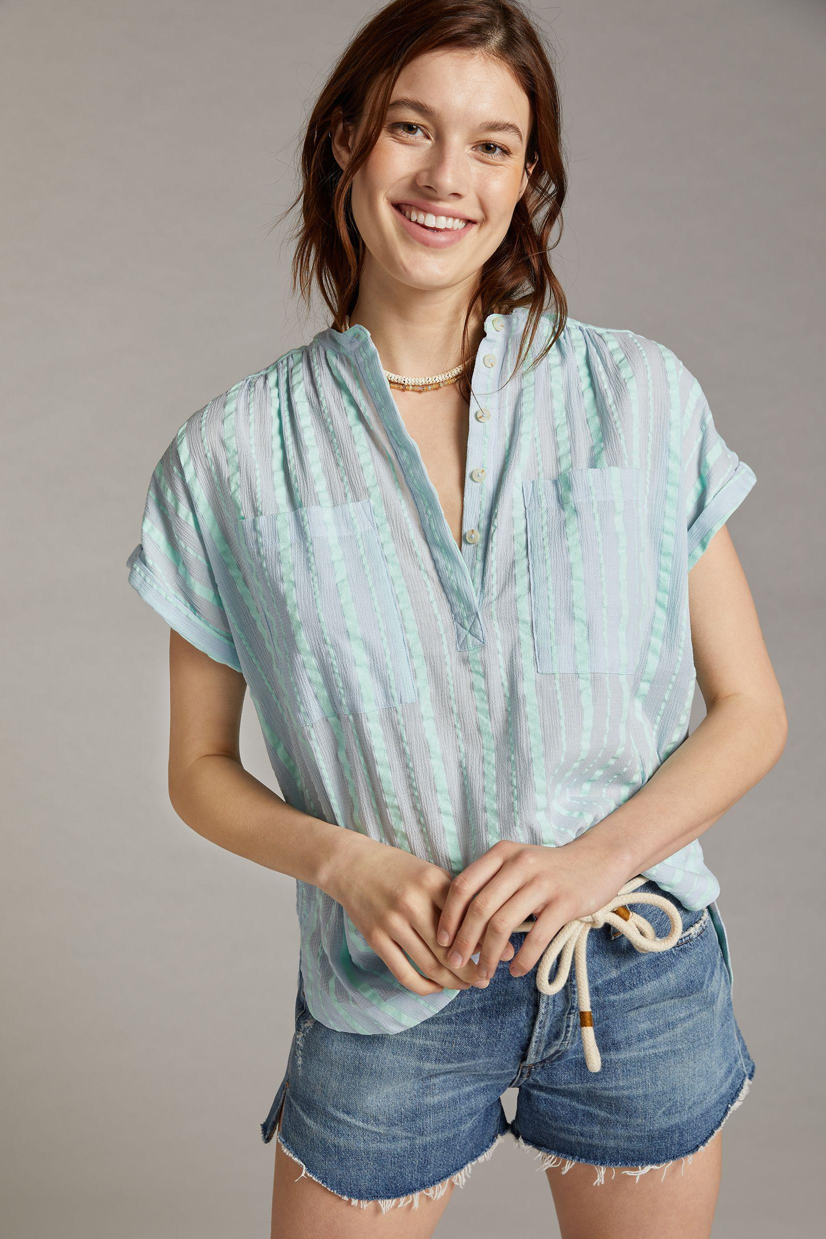 Maeve Textured Blouse 3