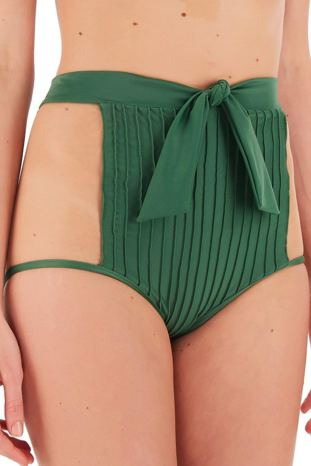 Fiore Solid Hot Pants Bikini with Tulle