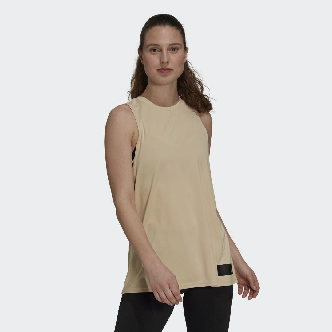 Parley Mission Kit Run for the Oceans Tank Top Halo Blush 2XL - Womens Training Tank Tops