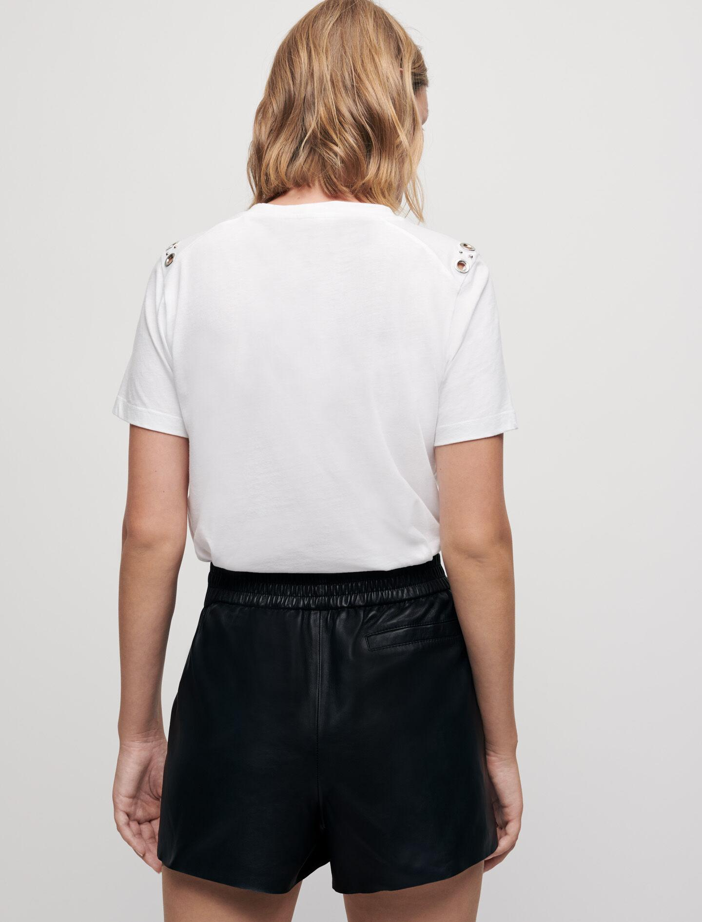 WHITE T-SHIRT WITH ROCK EYELETS 4