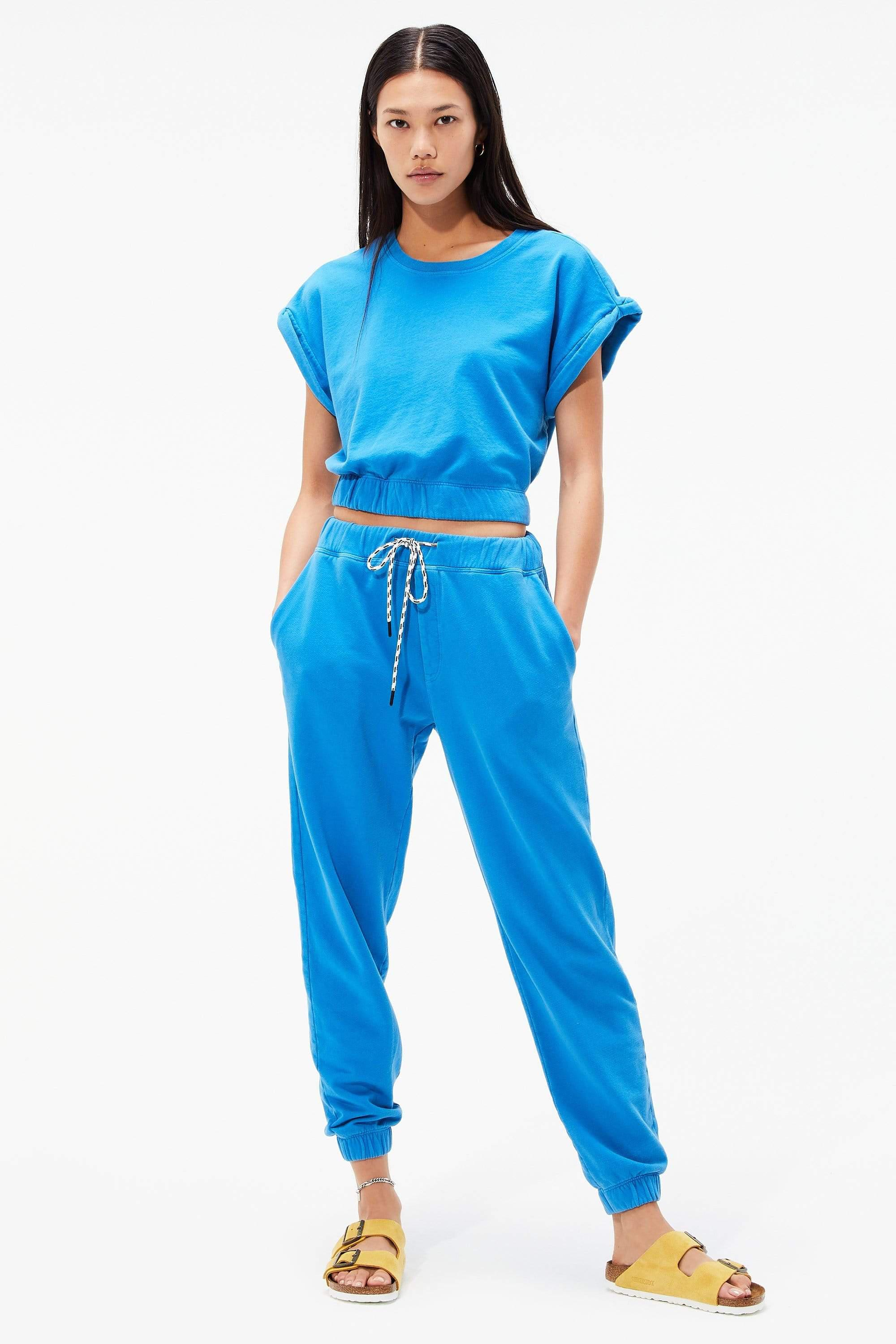 Franky French Terry 7/8 Sweatpant - Persian Blue 2