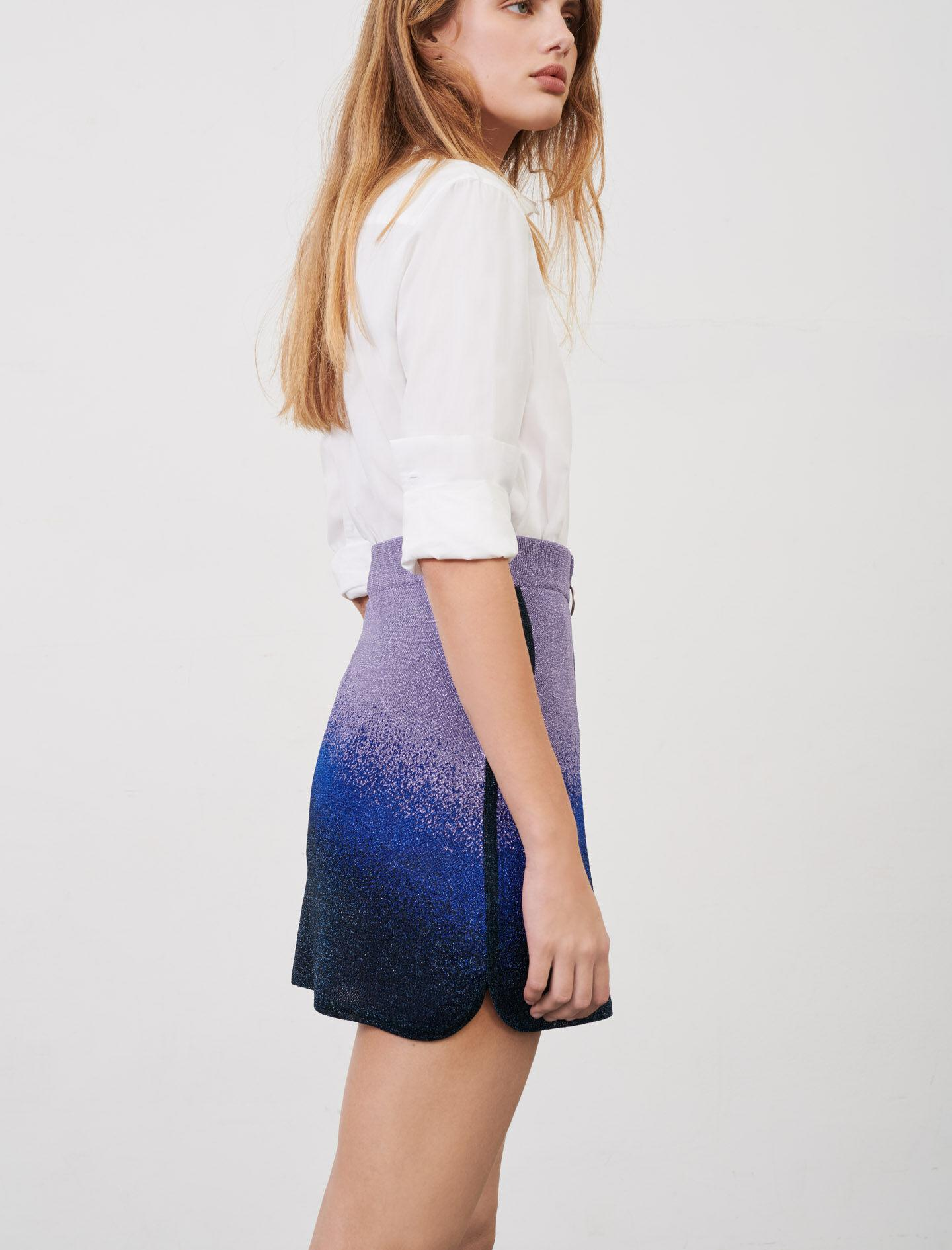 LUREX KNITTED SKIRT WITH ZIP 3