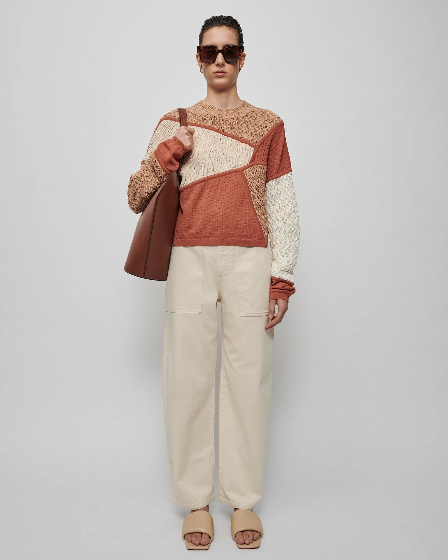 JUNE - Knitted sweater - Patchwork