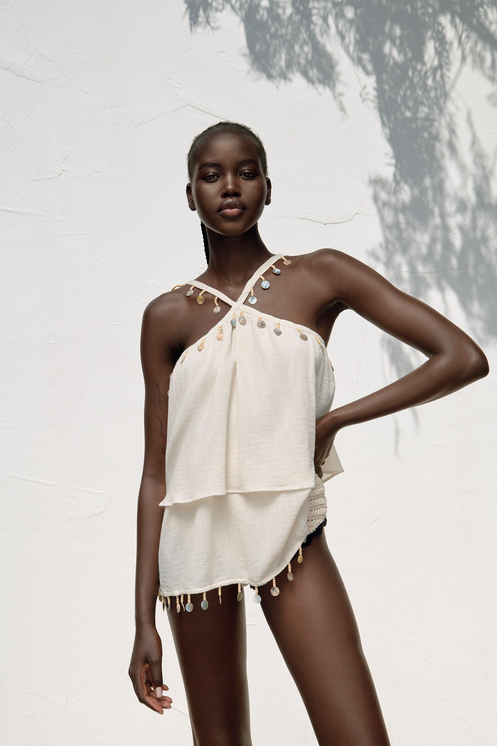 CAMISOLE WITH SHELLS