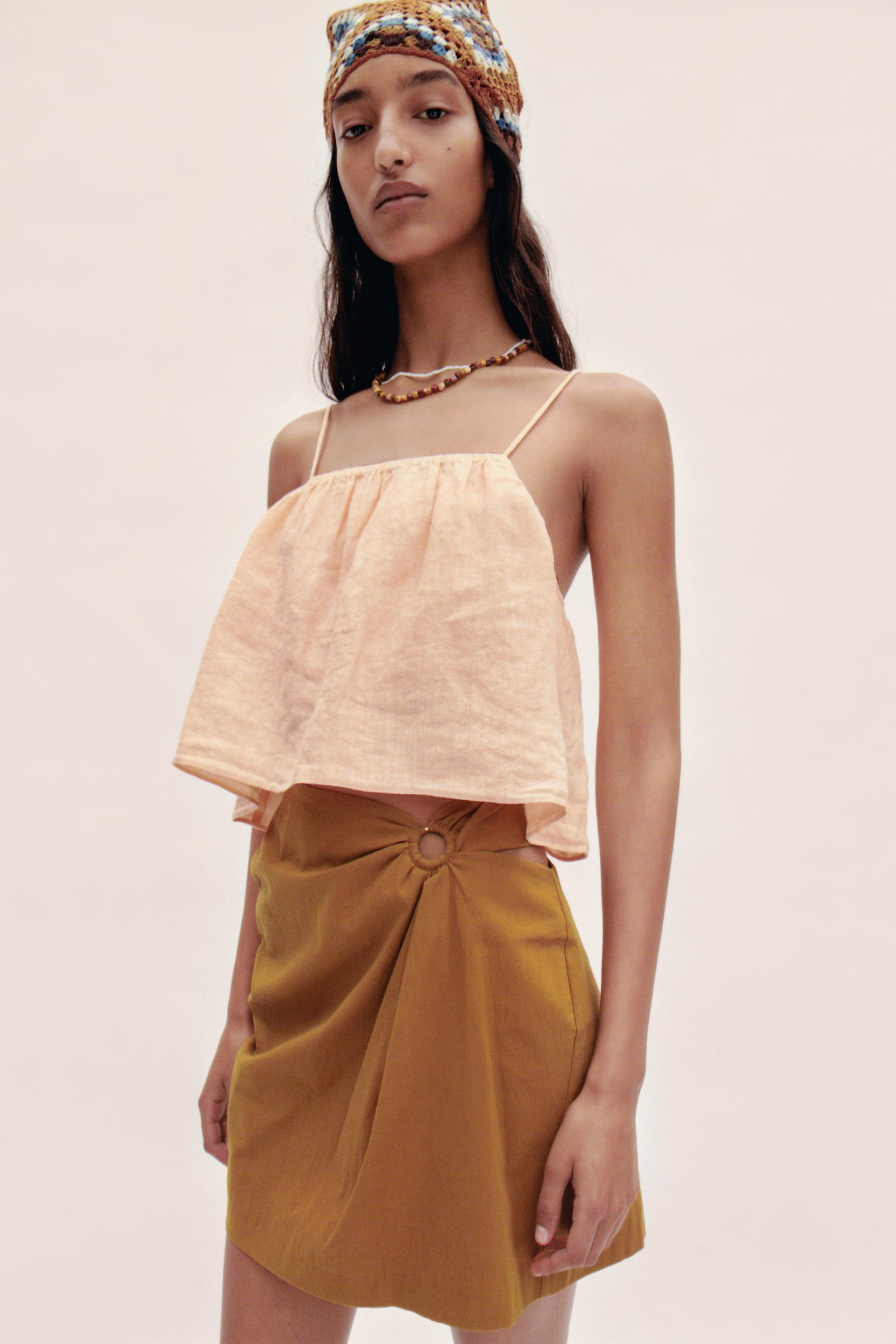 CROPPED LINEN TOP 1