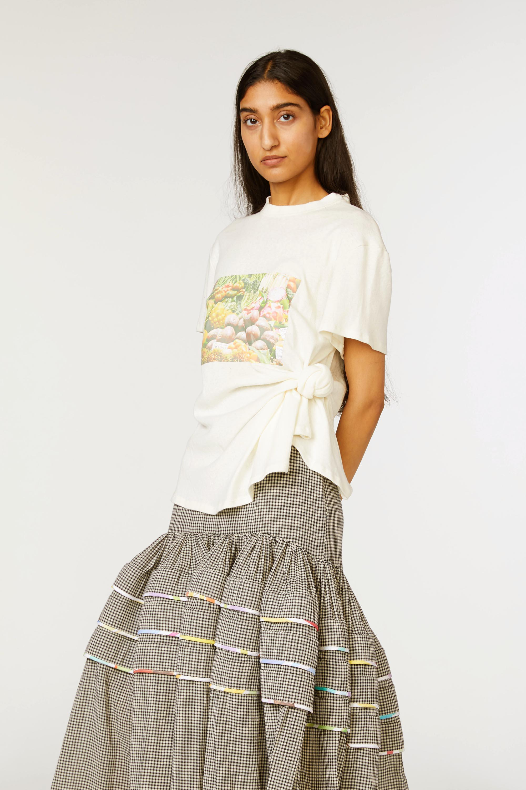 Produce Print Knotted Tee
