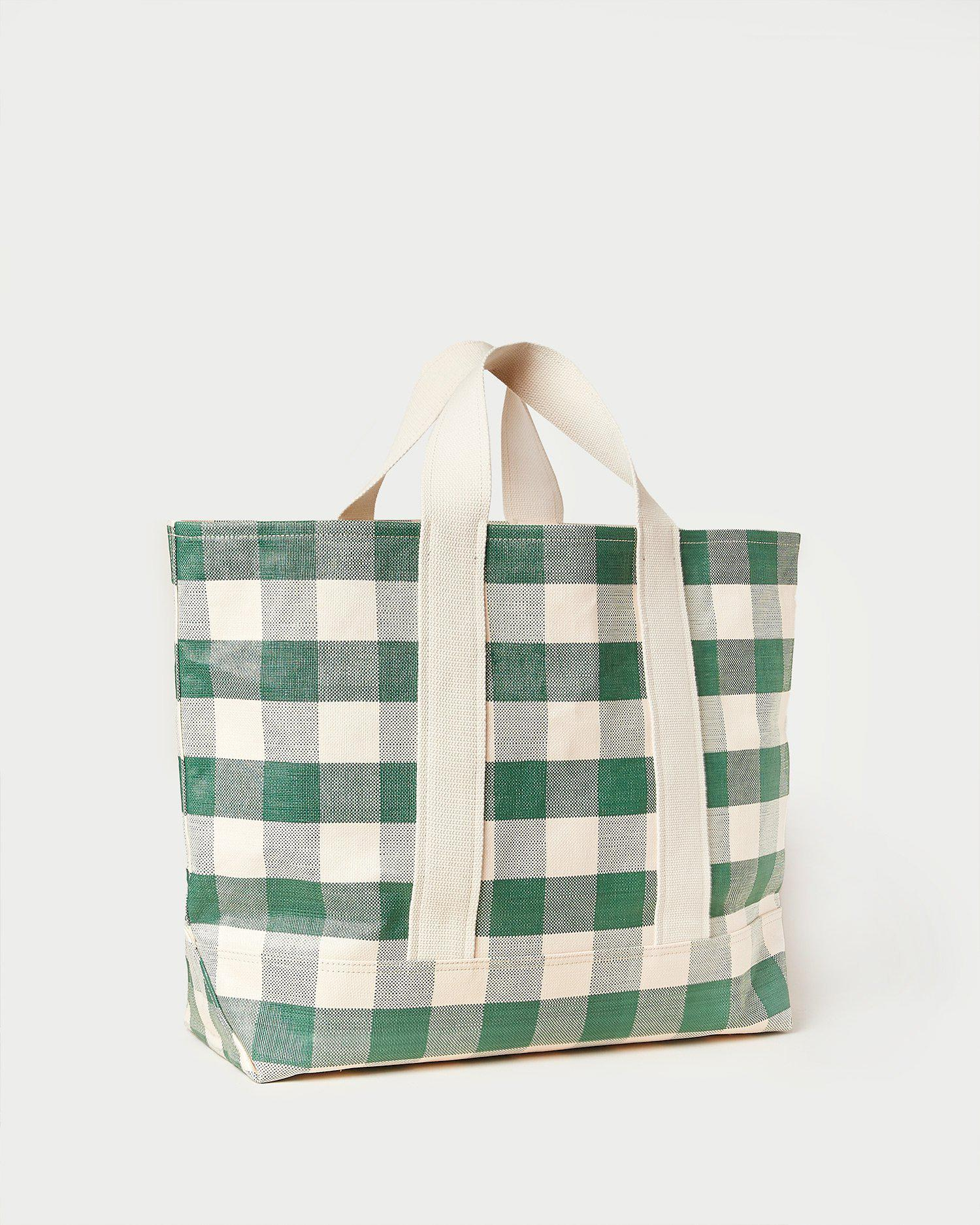 Bodie Gingham Oversized Open Tote 1