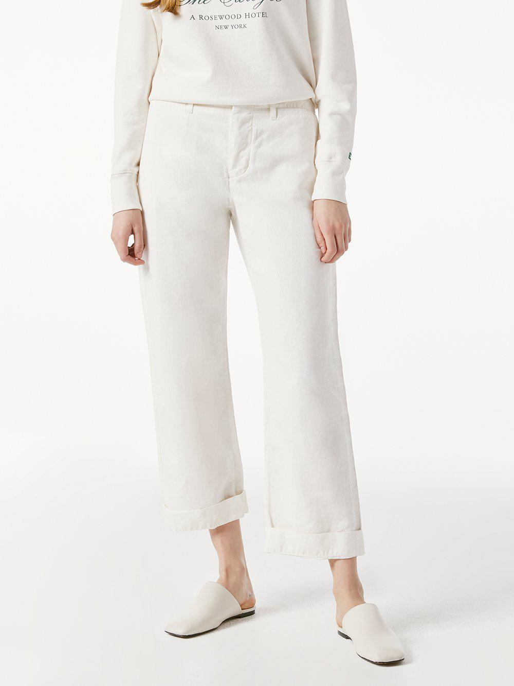 Le Tomboy Trouser Cuffed -- Vintage White