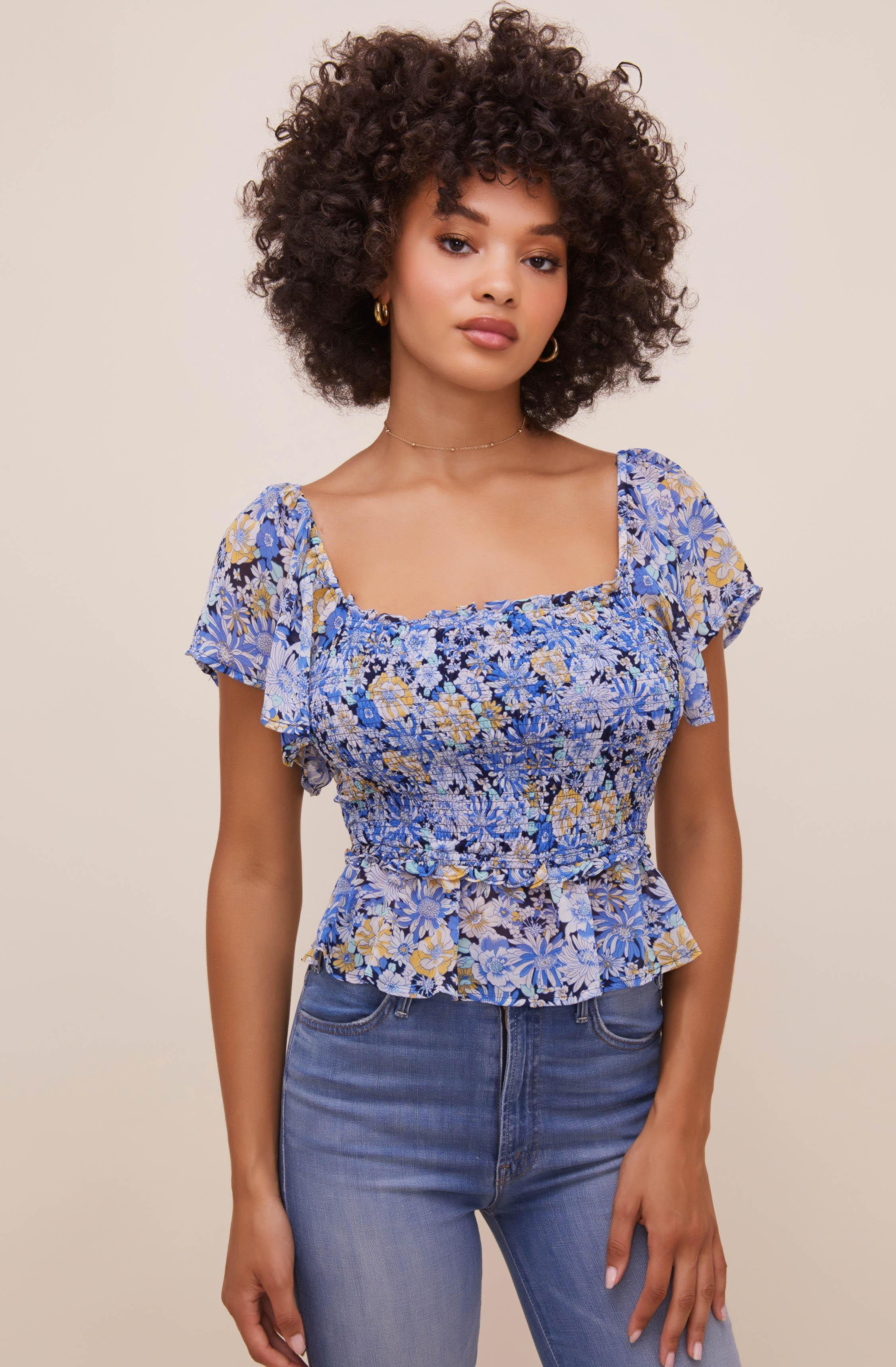 January Floral Top
