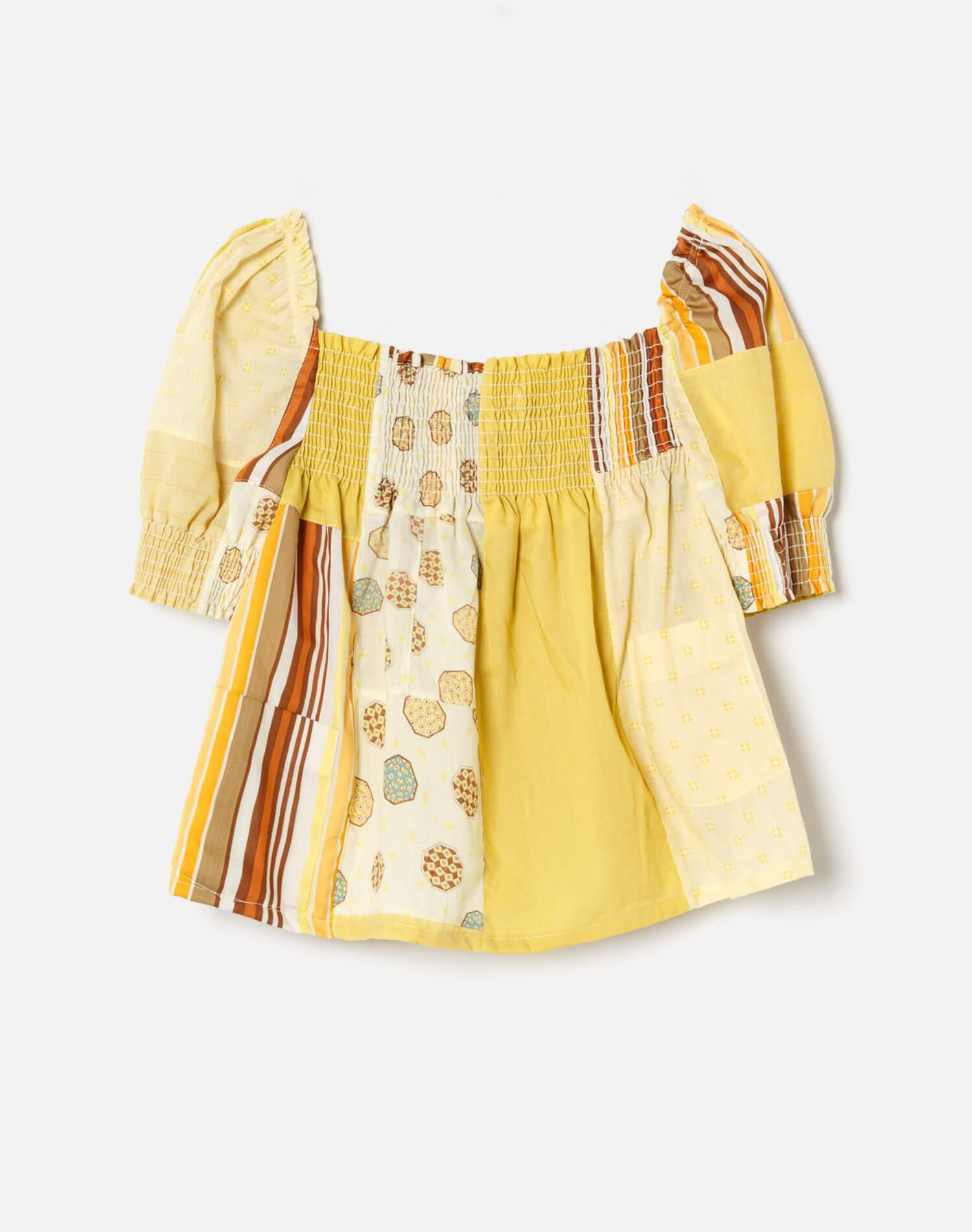70s Upcycled Babydoll Top 1