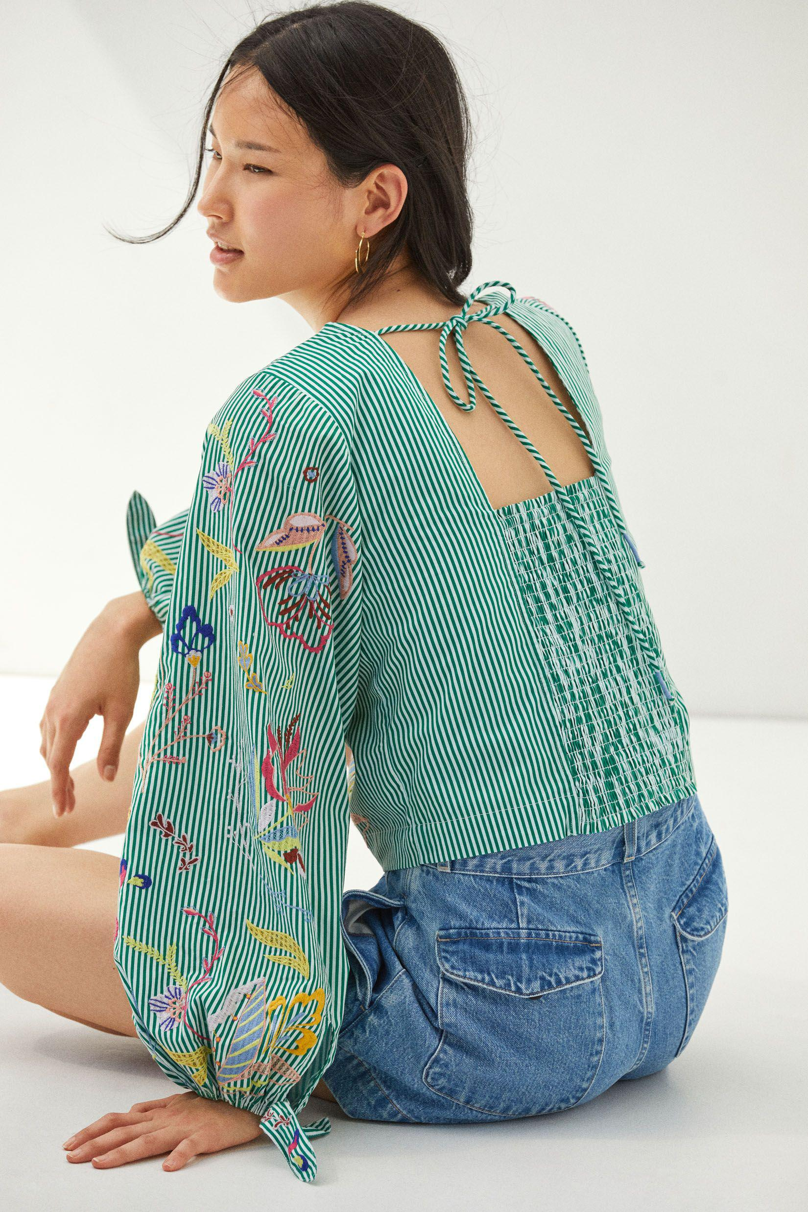 Maeve Embroidered Blouse