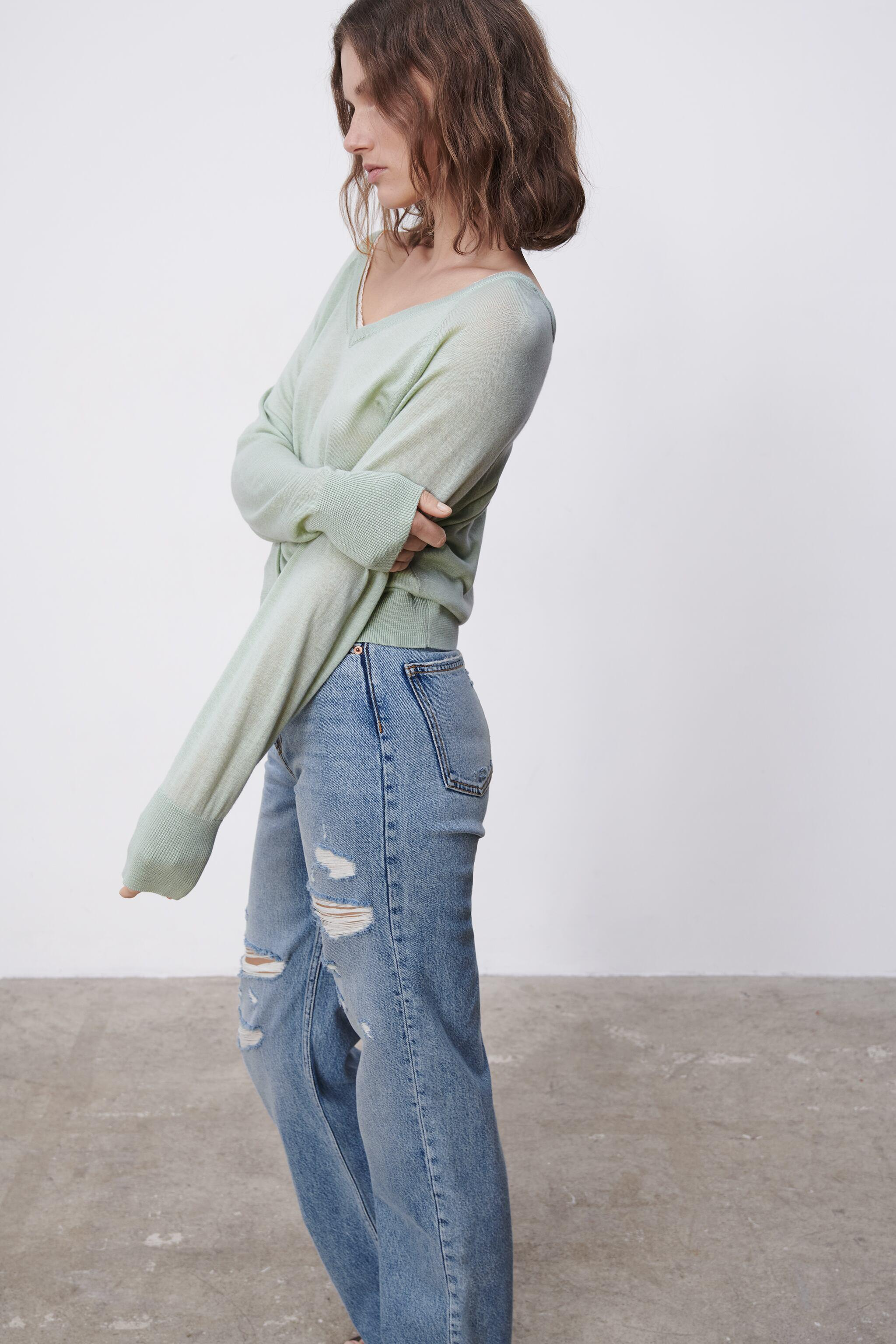 COMBINATION KNIT SWEATER 3