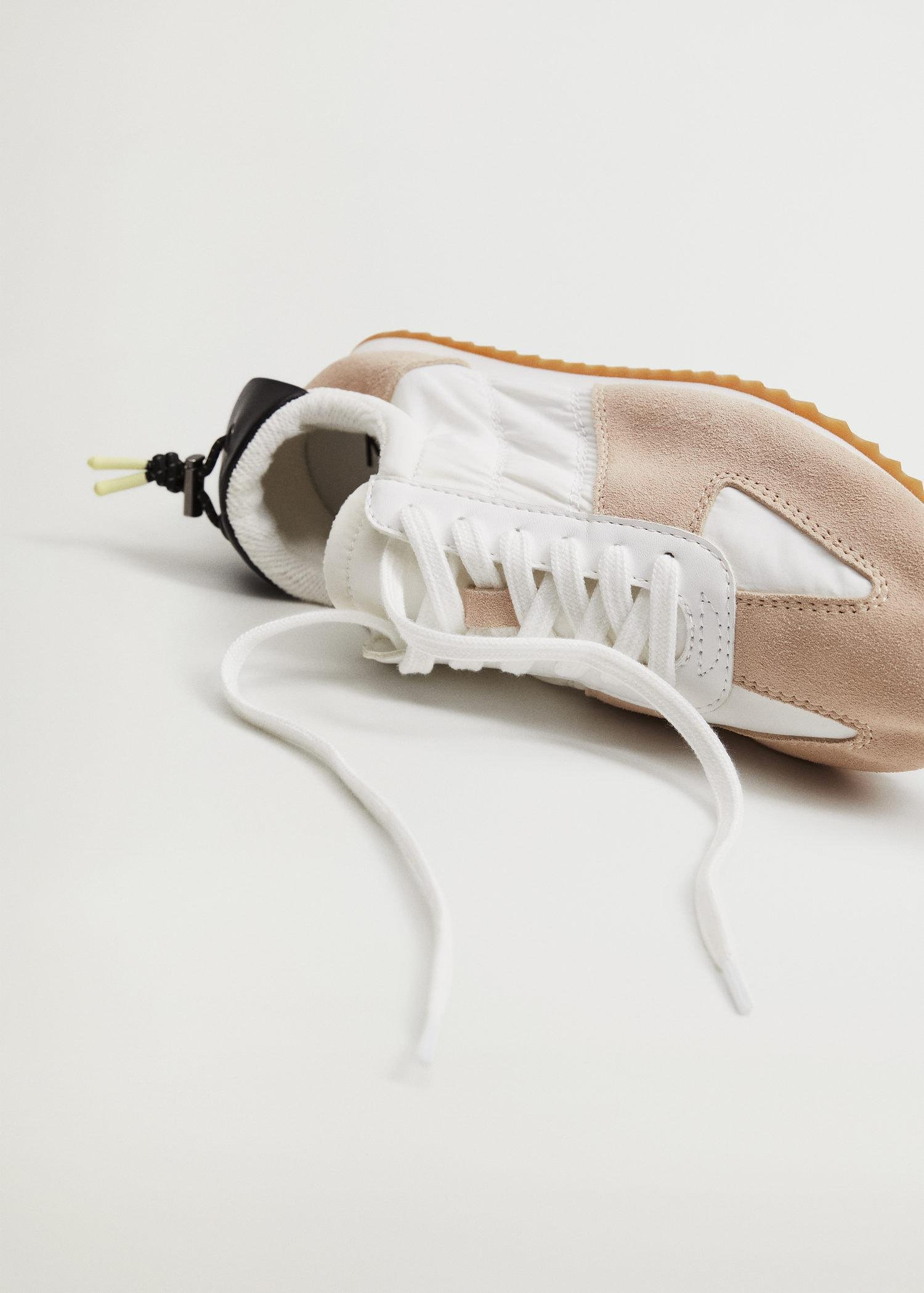 Leather mixed sneakers 1