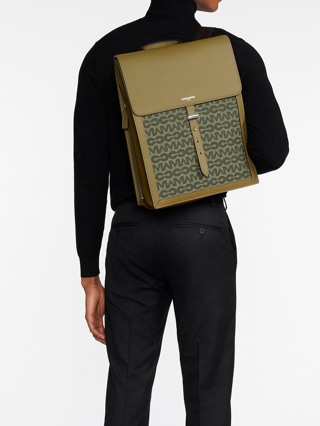 Andy MC Jacquard & Leather Backpack 8
