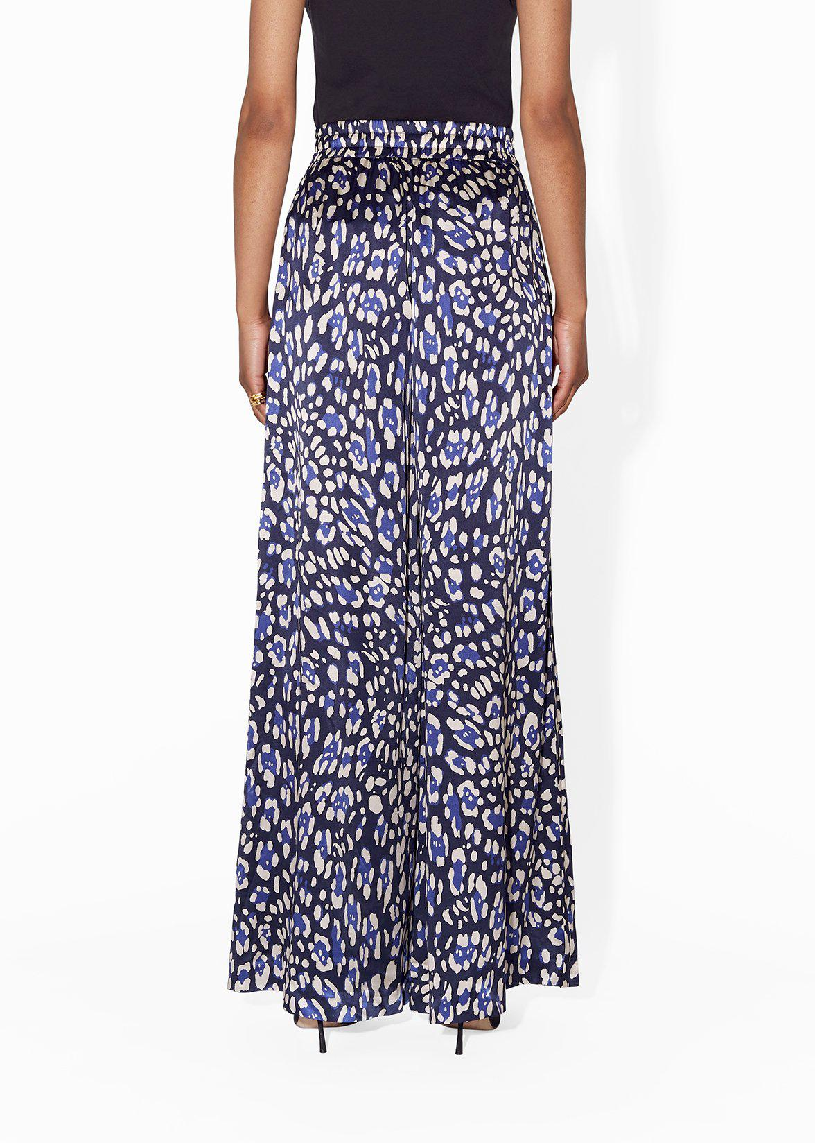 WIDE-LEG PANT IN PRINTED CHARMEUSE 4