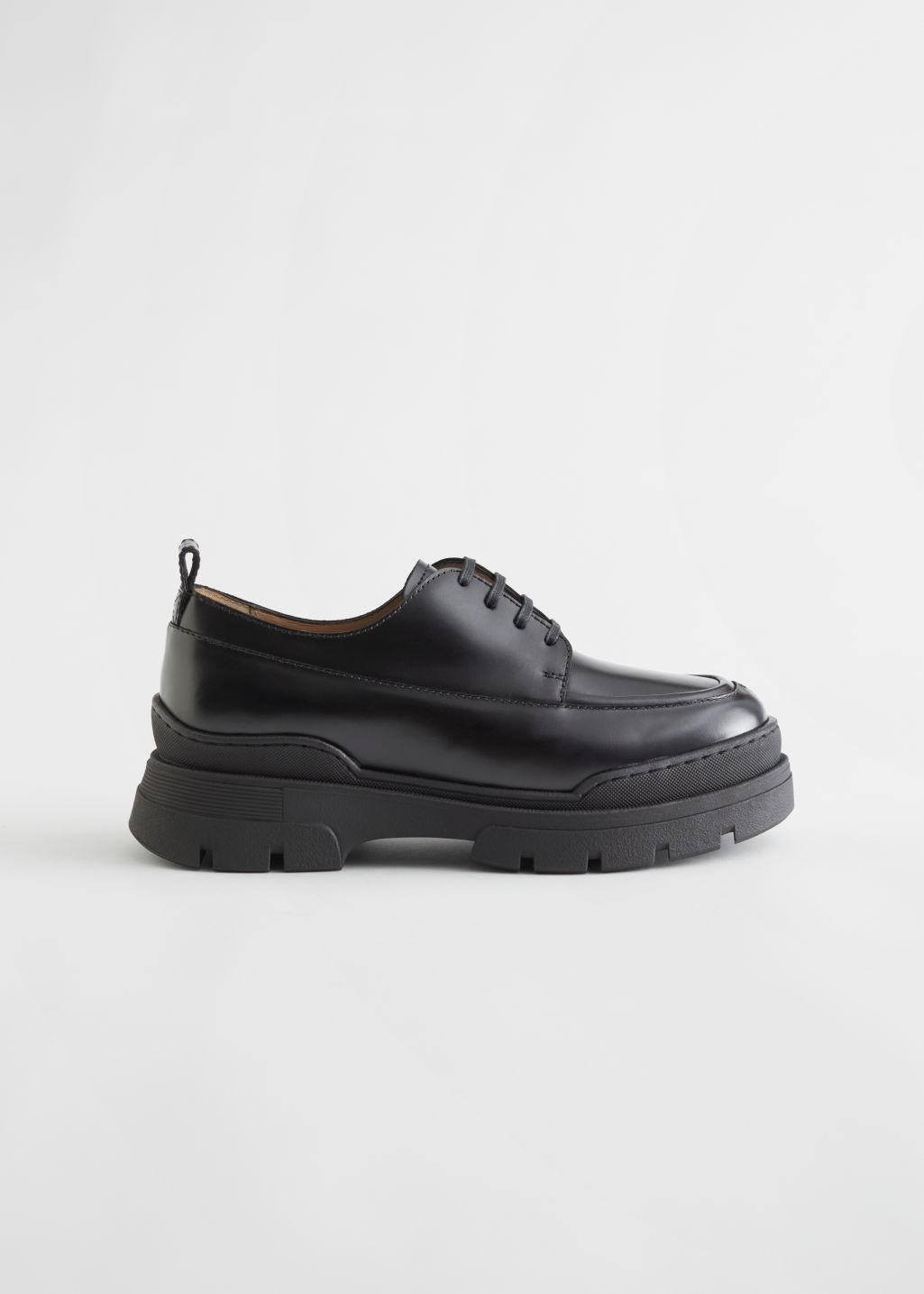 Chunky Sole Leather Oxfords
