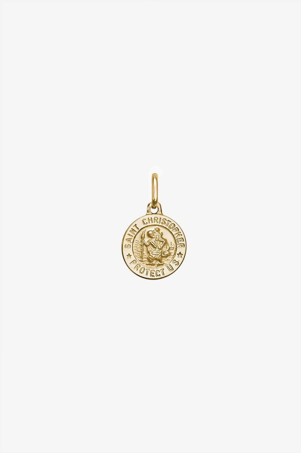 St Christopher Charm - Gold