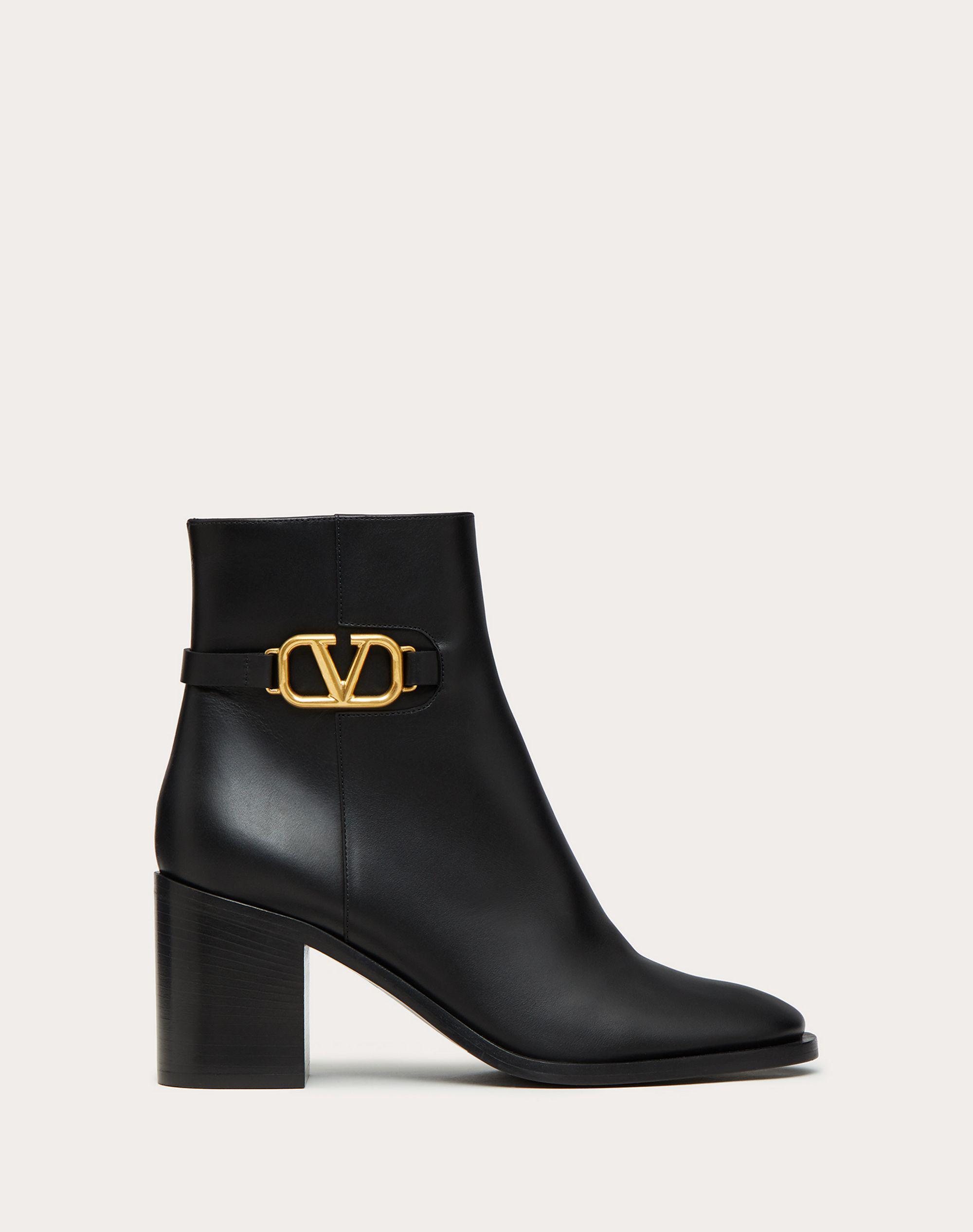 VLOGO SIGNATURE CALFSKIN ANKLE BOOT 75MM