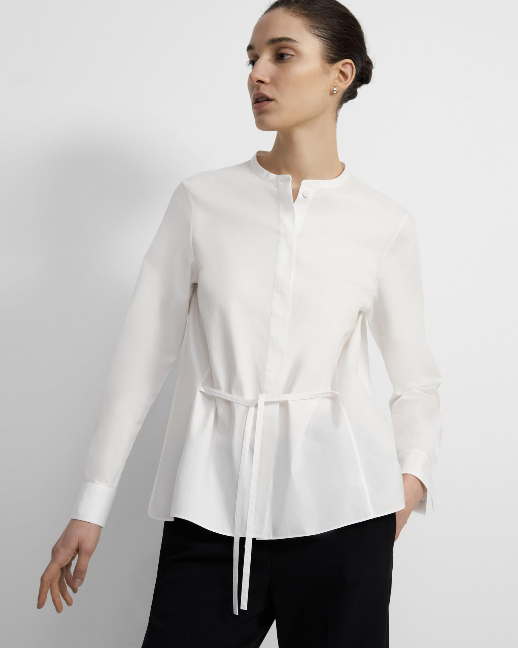 Cinched Shirt in Good Cotton