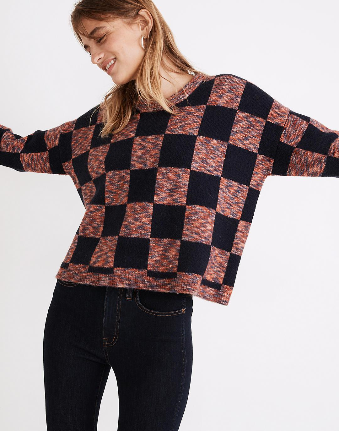 Checkered Pullover Sweater