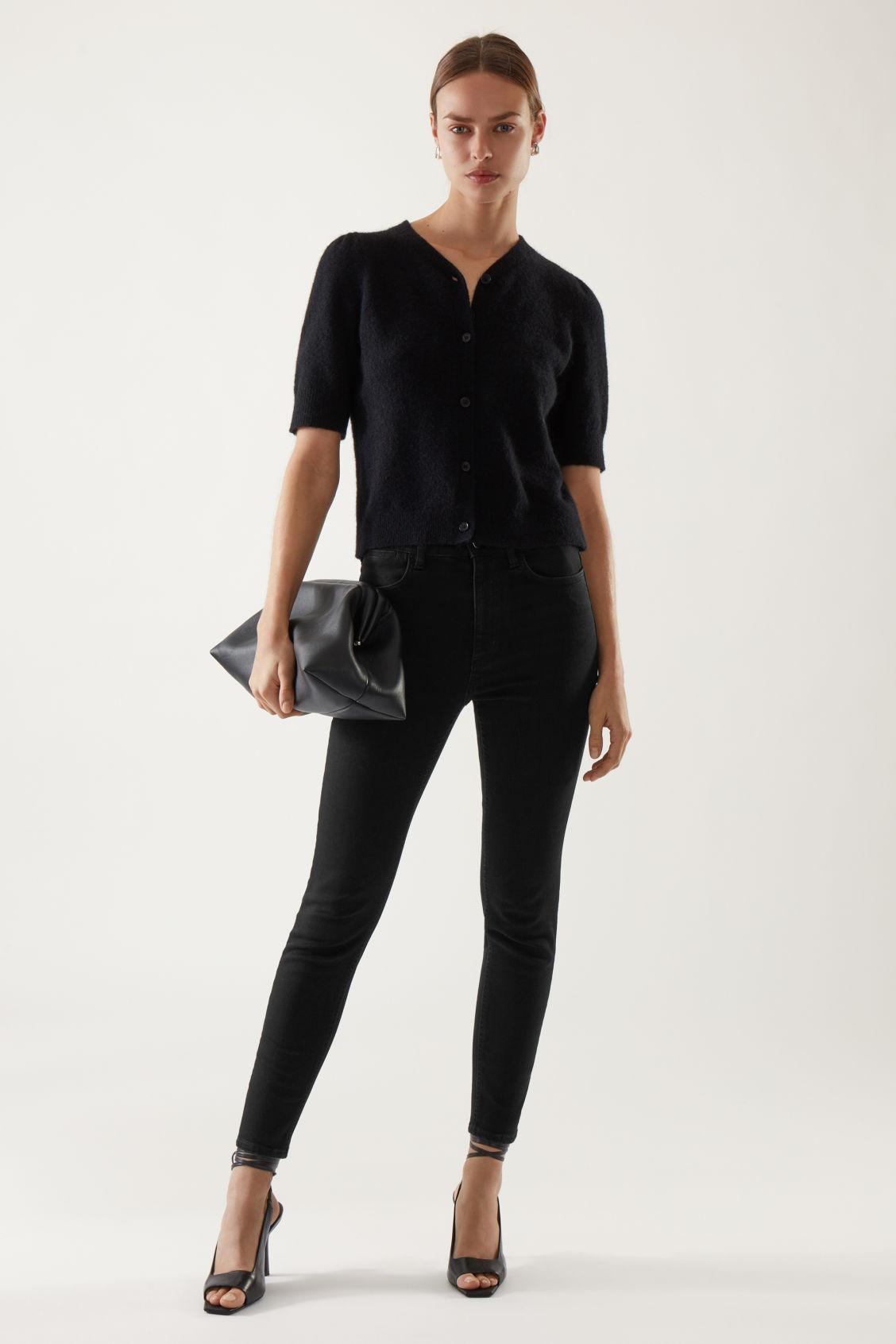 ORGANIC COTTON HIGH WAISTED SLIM FIT JEANS