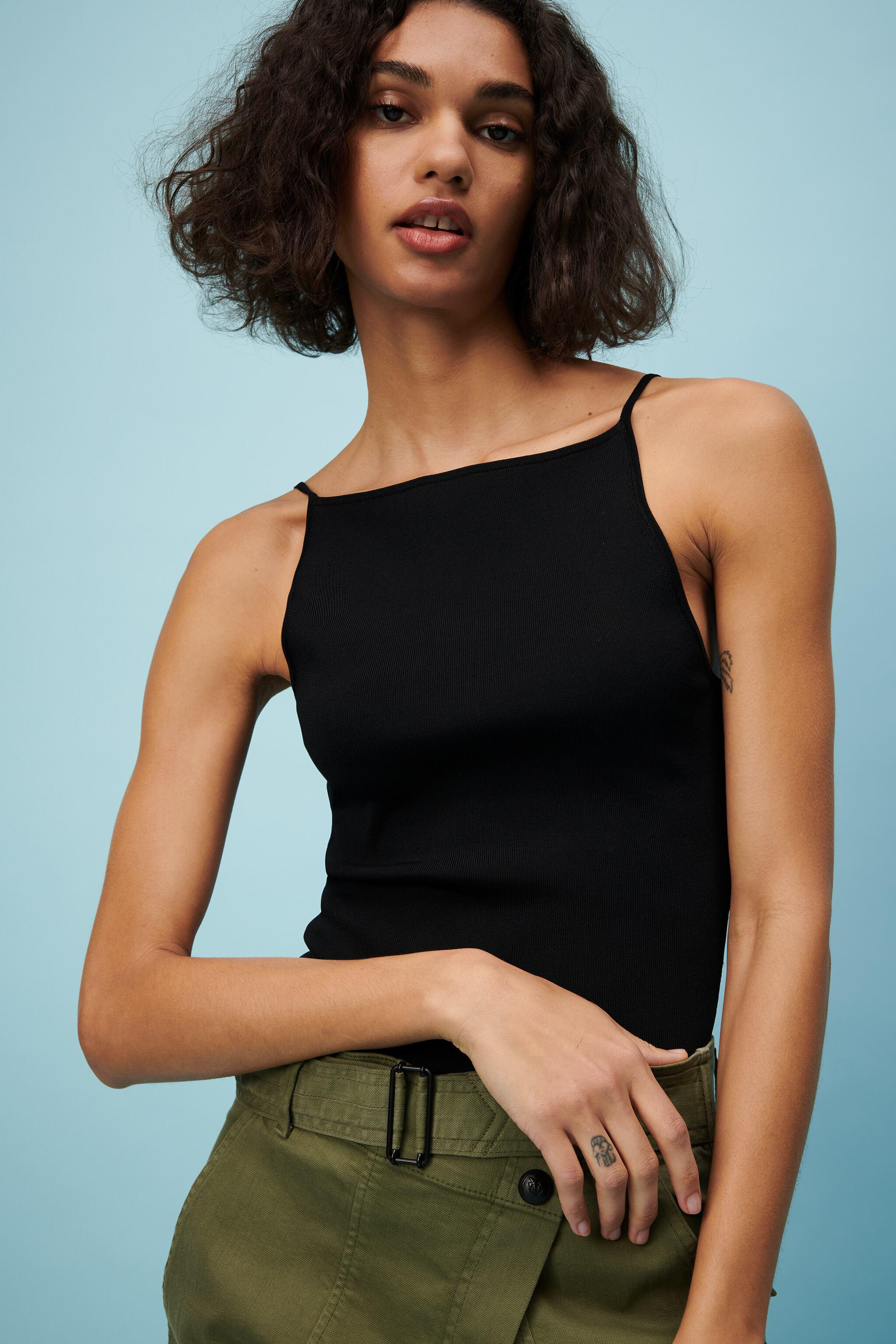 STRAPPY KNIT TOP 1